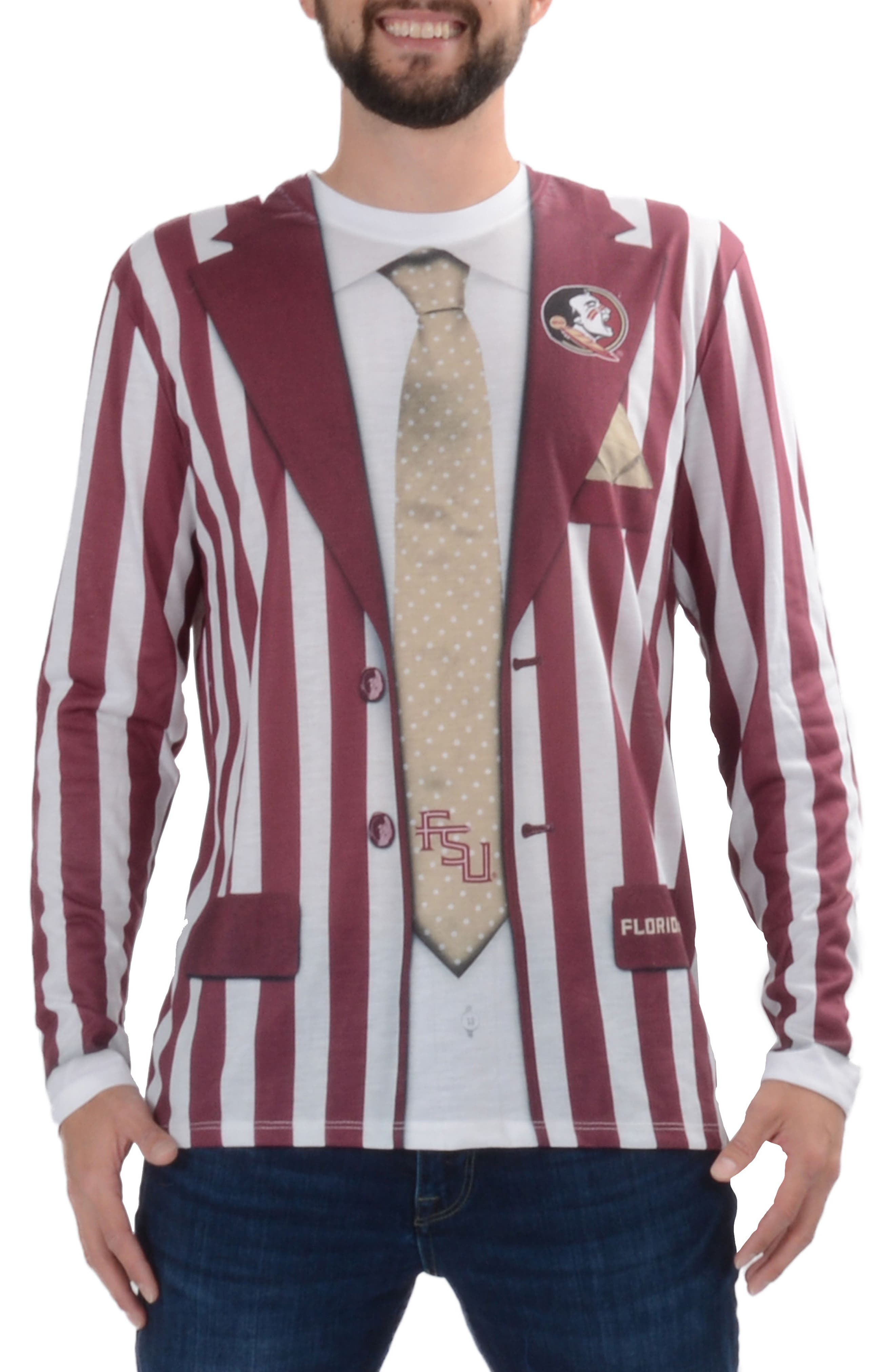 Faux Real College Sports Suit & Tie Costume T-Shirt