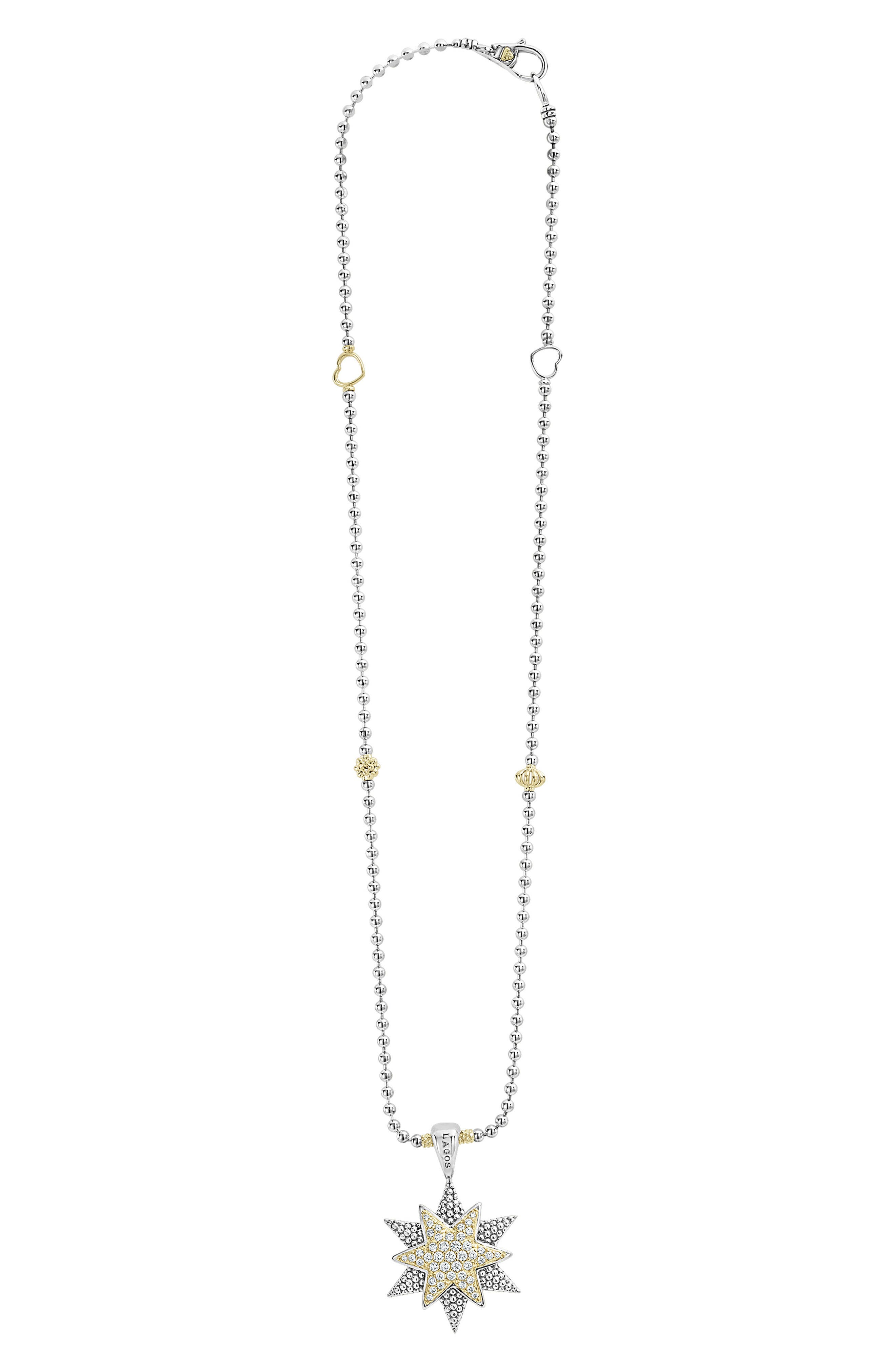 LAGOS North Star Large Diamond Pendant Necklace