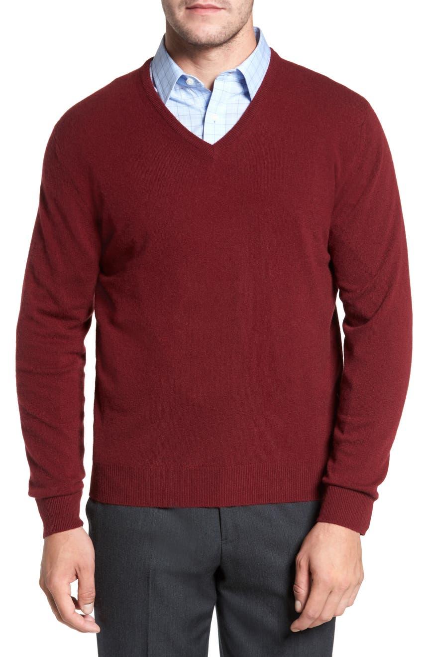 David Donahue Cashmere V-Neck Sweater | Nordstrom