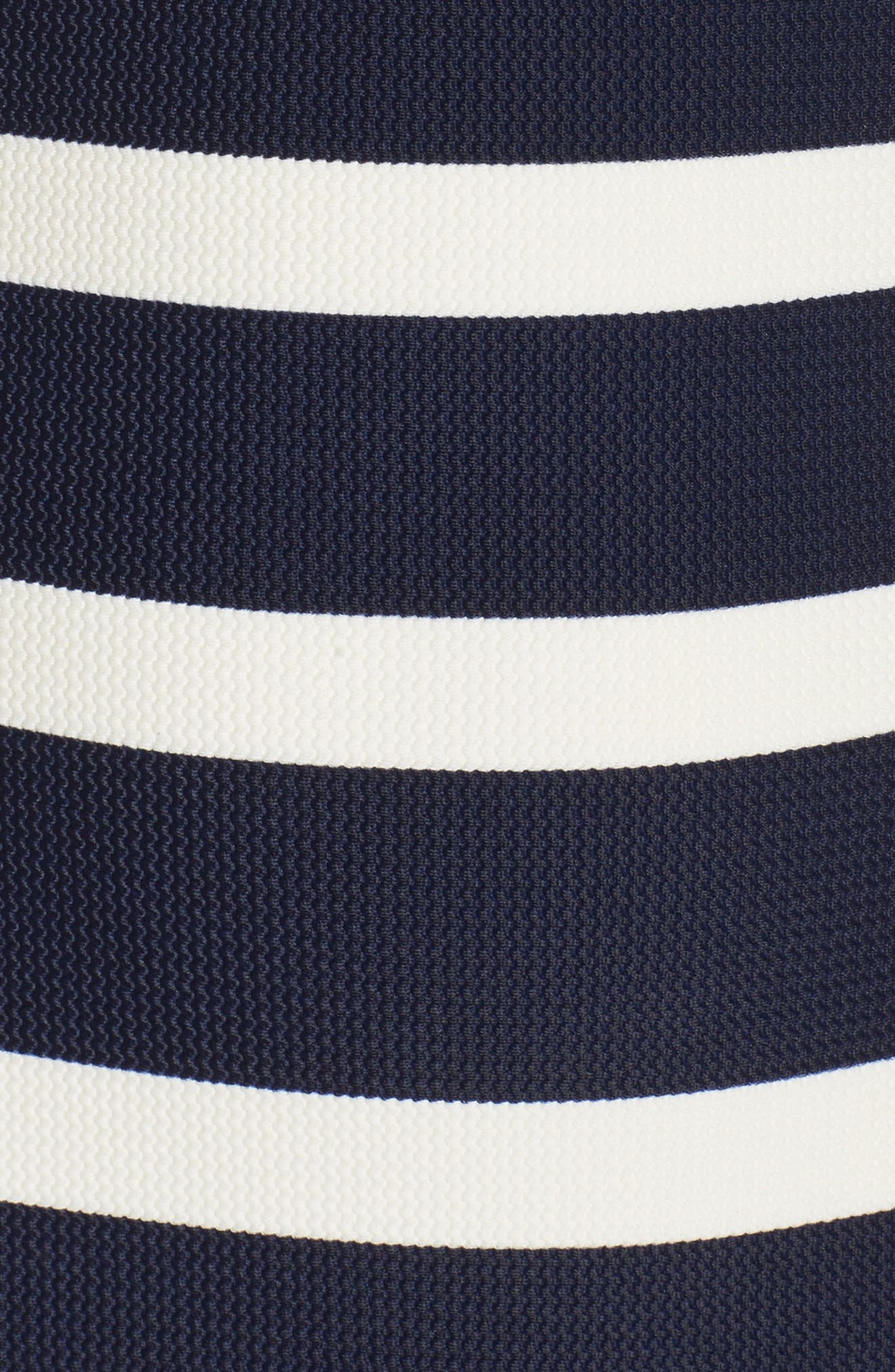 Texture Stripe One-Piece Bandeau Swimsuit,                             Alternate thumbnail 5, color,                             Navy
