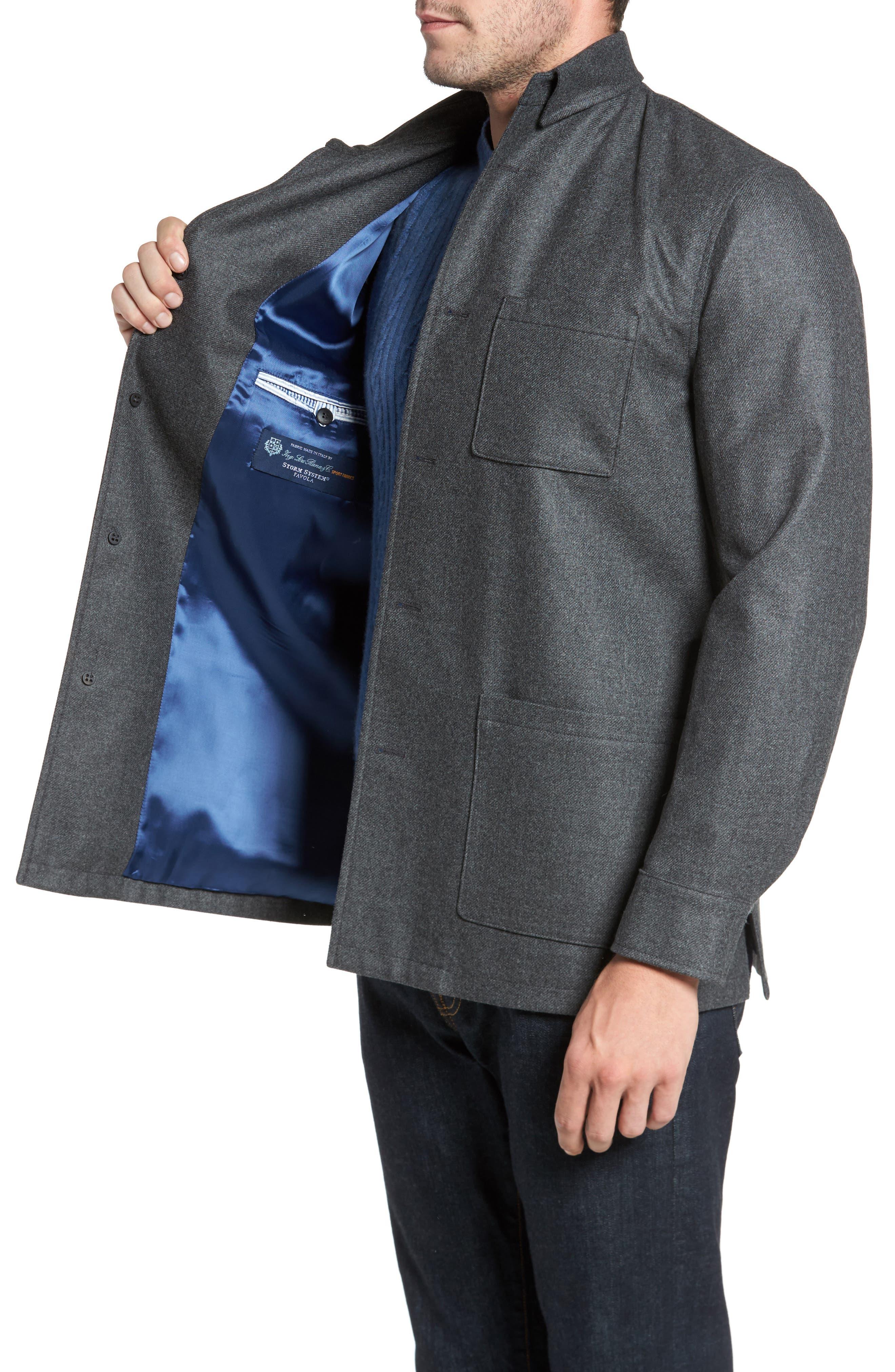 Alternate Image 3  - David Donahue Loro Piana Storm System Shirt Jacket