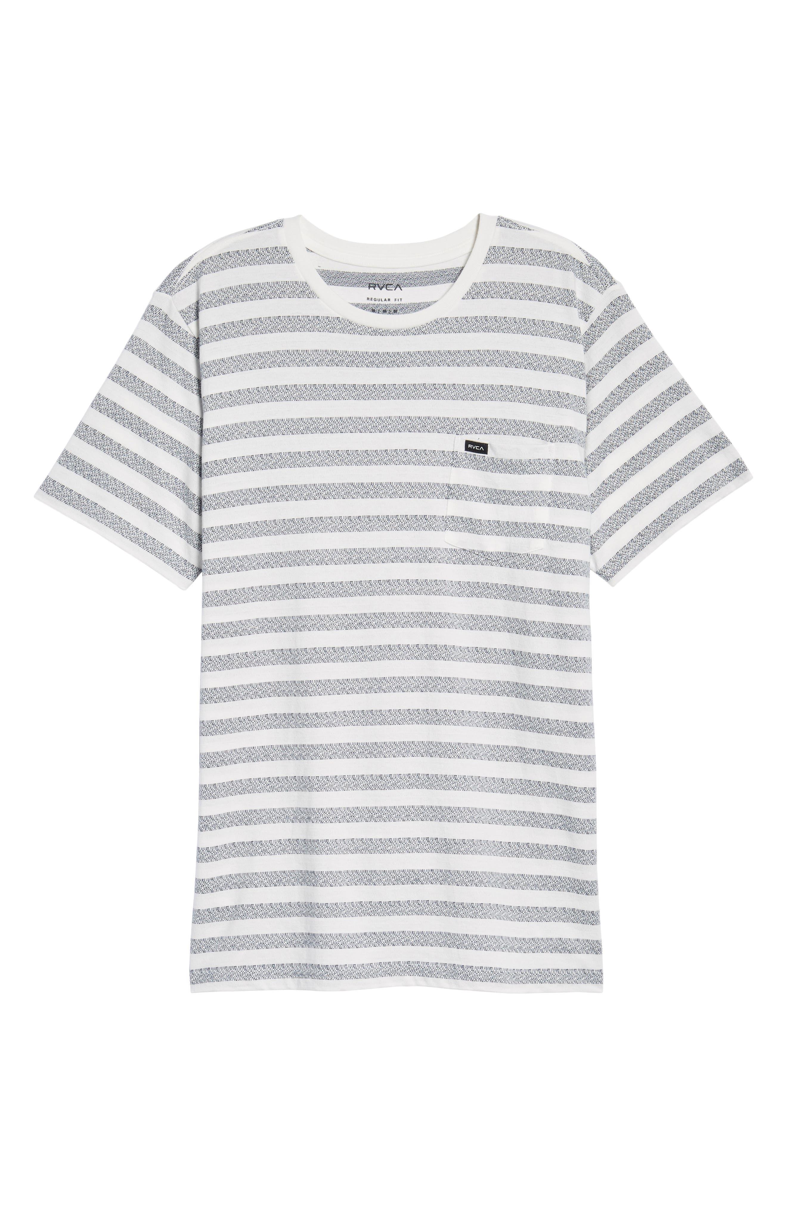 What's Shakin' Stripe T-Shirt,                             Alternate thumbnail 6, color,                             Antique White