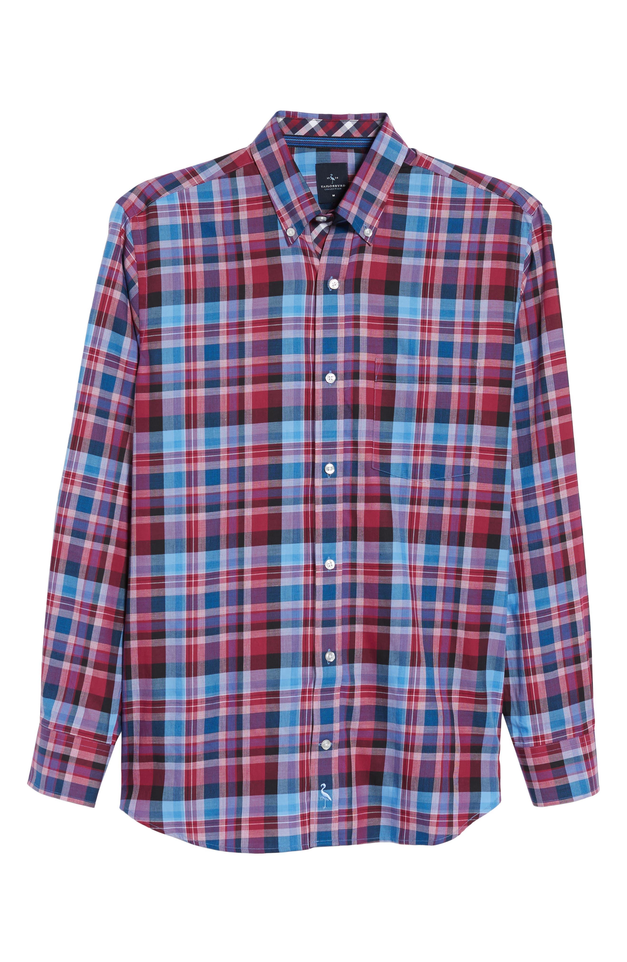 Alternate Image 6  - TailorByrd Colfax Plaid Sport Shirt