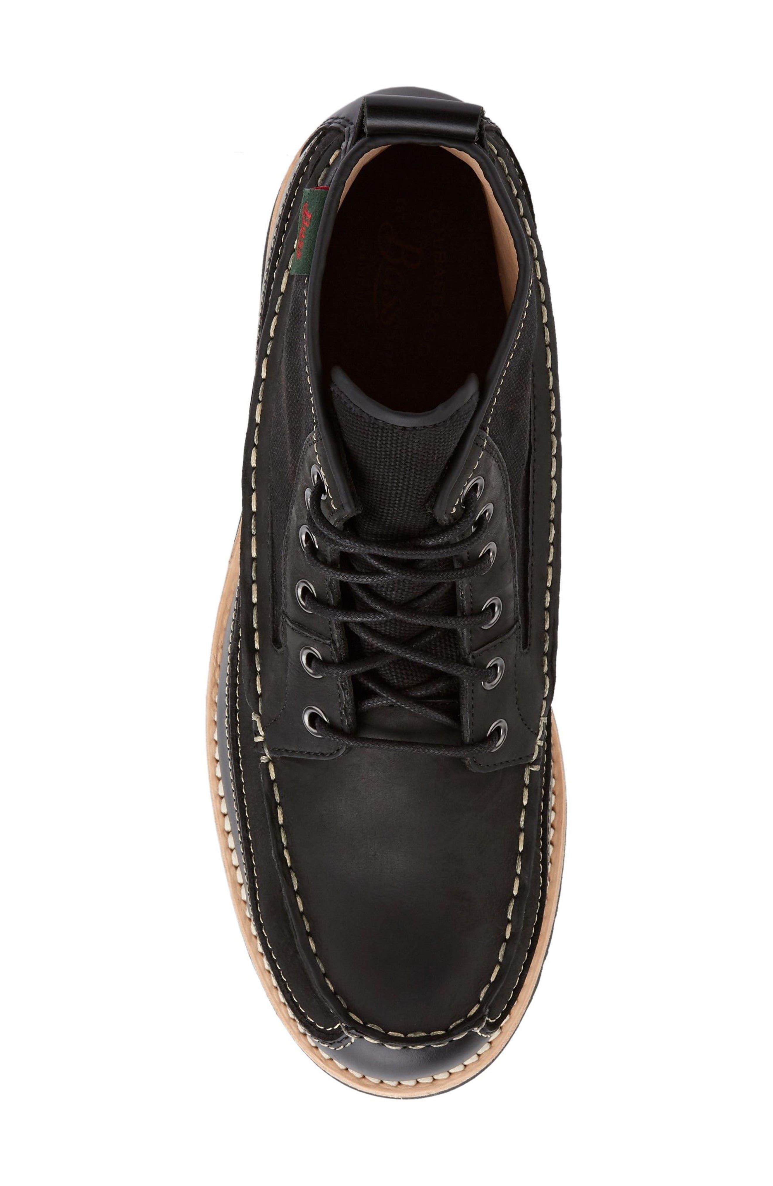 Nickson Razor Moc Toe Boot,                             Alternate thumbnail 5, color,                             Black