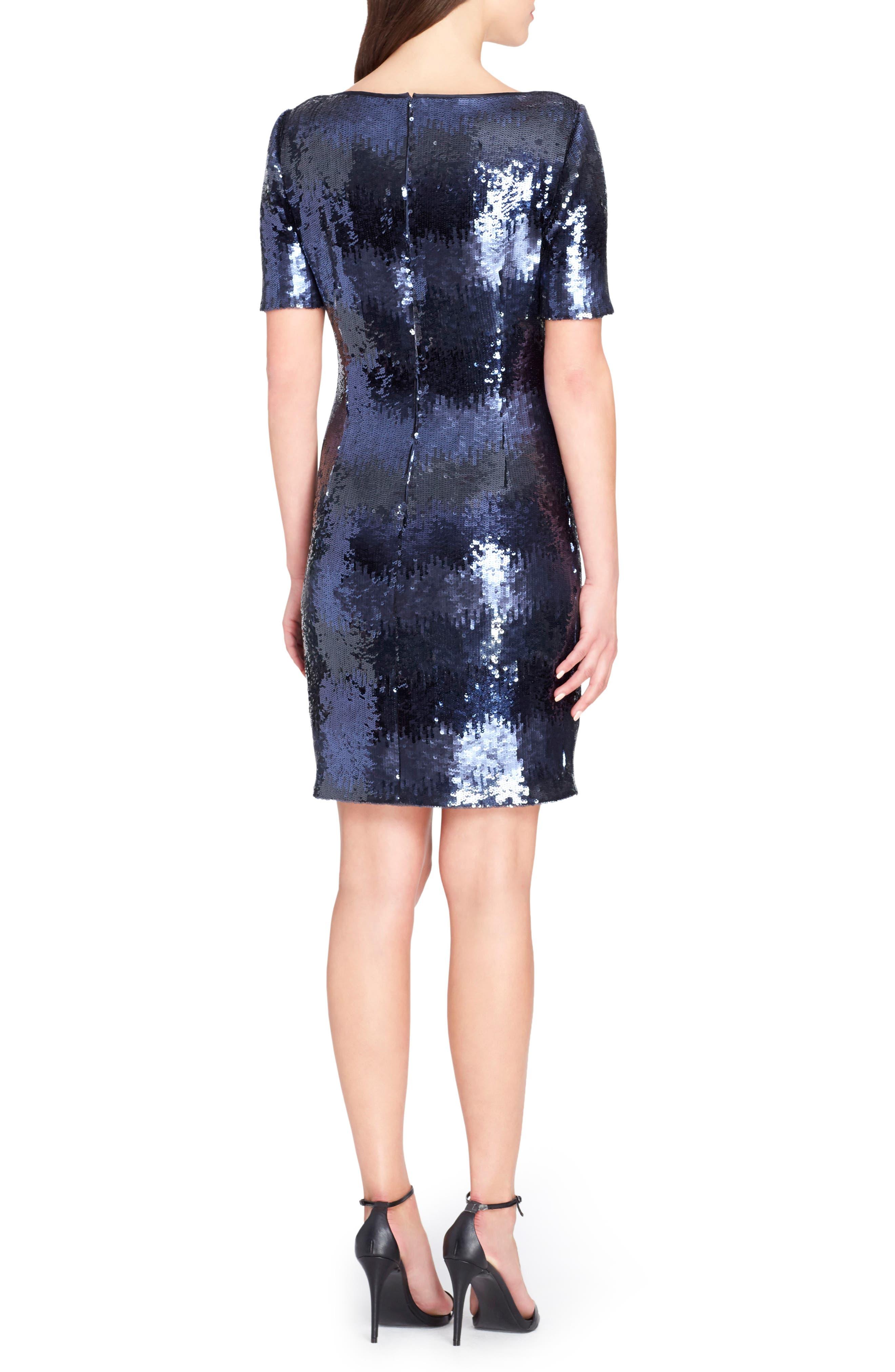 Sequin Body-Con Dress,                             Alternate thumbnail 2, color,                             Shadow