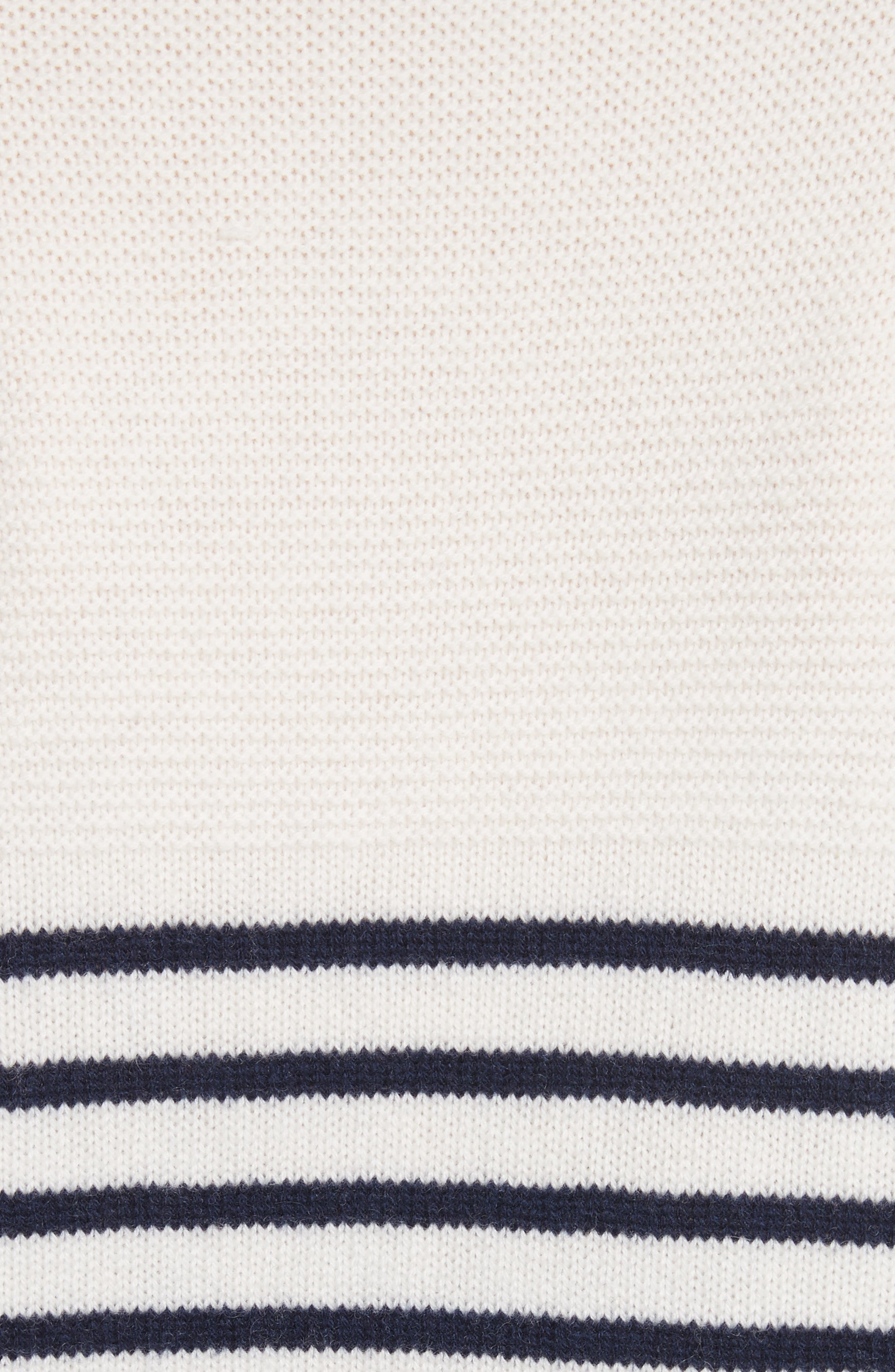 Aefre Woven Trim Wool & Cashmere Sweater,                             Alternate thumbnail 5, color,                             Porcelain/ Midnight