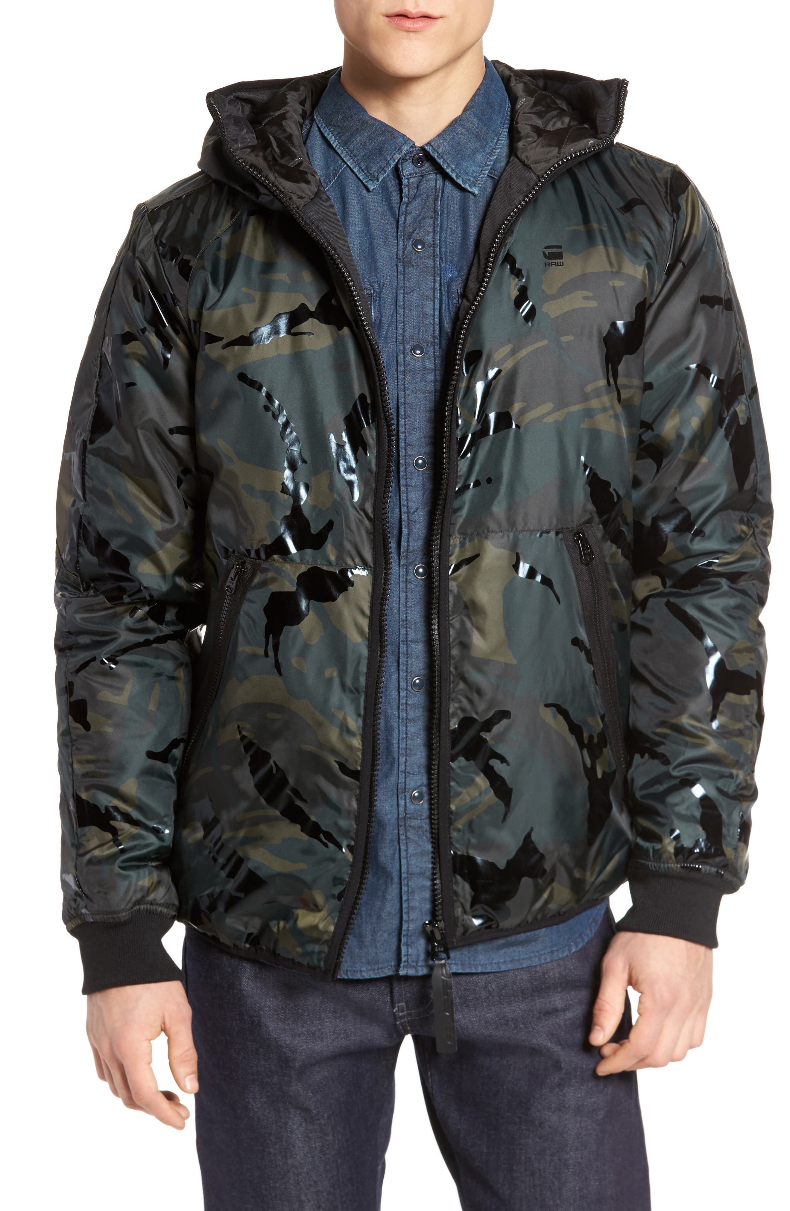 G-Star Raw Strett Padded Hooded Overshirt