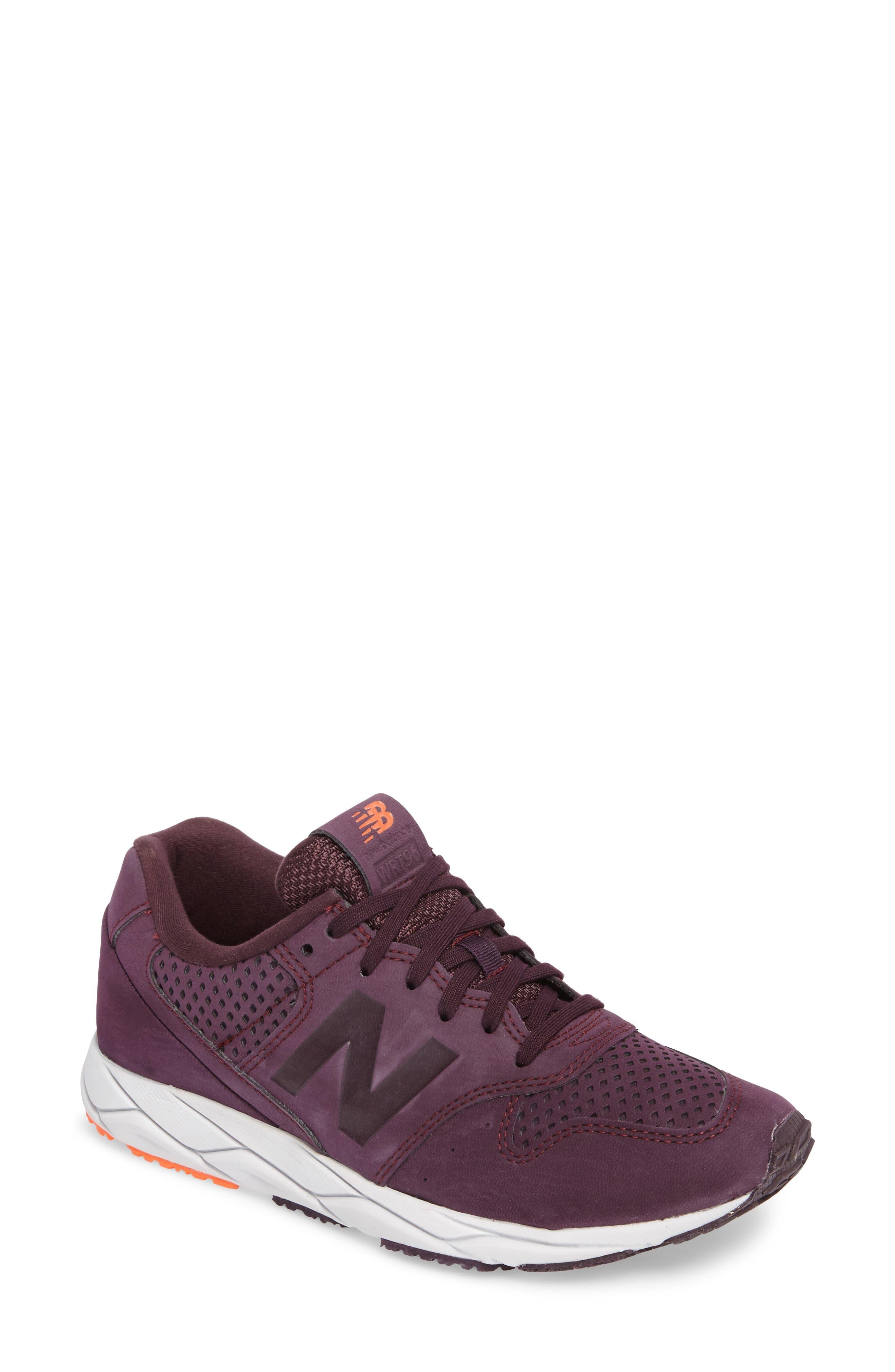 new balance knit shoes. main image - new balance 96 mash-up sneaker (women) knit shoes p