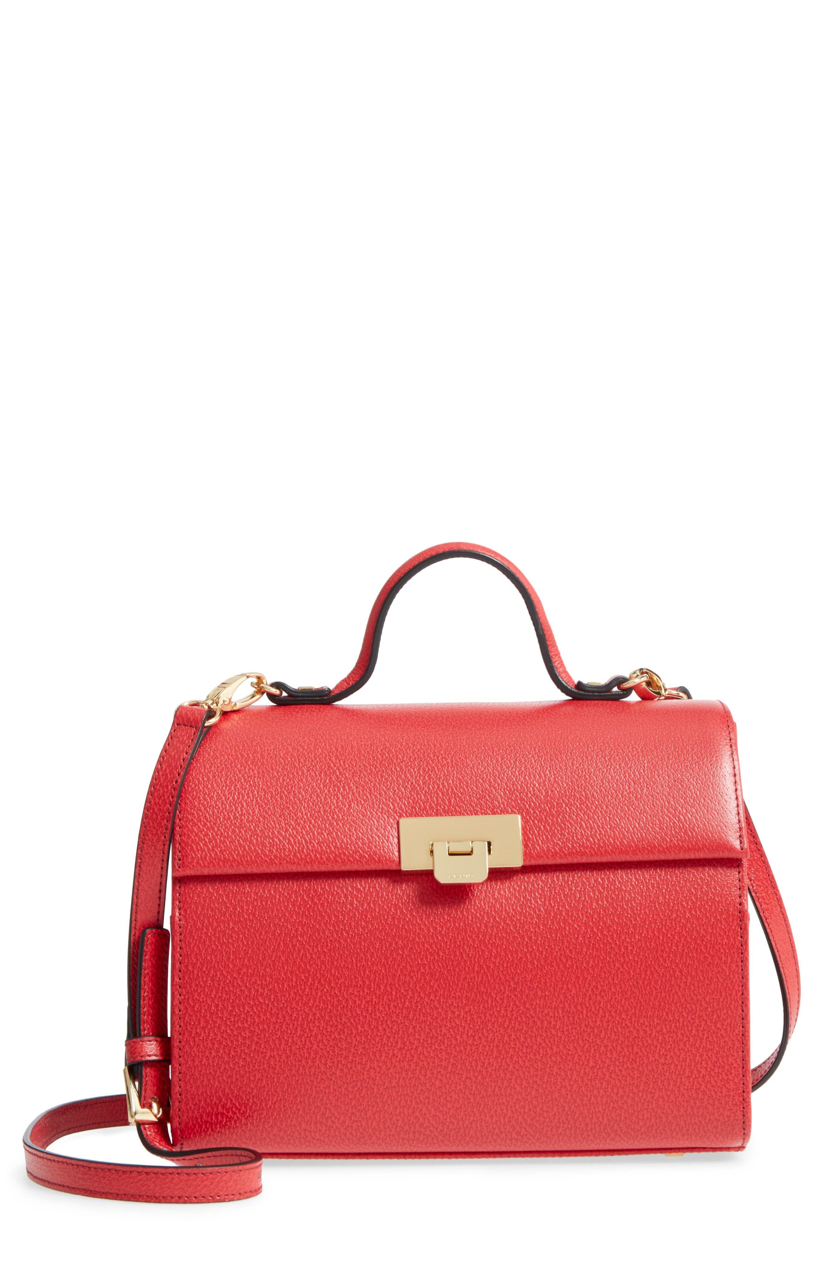 Lodis Stephanie Under Lock & Key - Medium Bree Leather Crossbody Bag