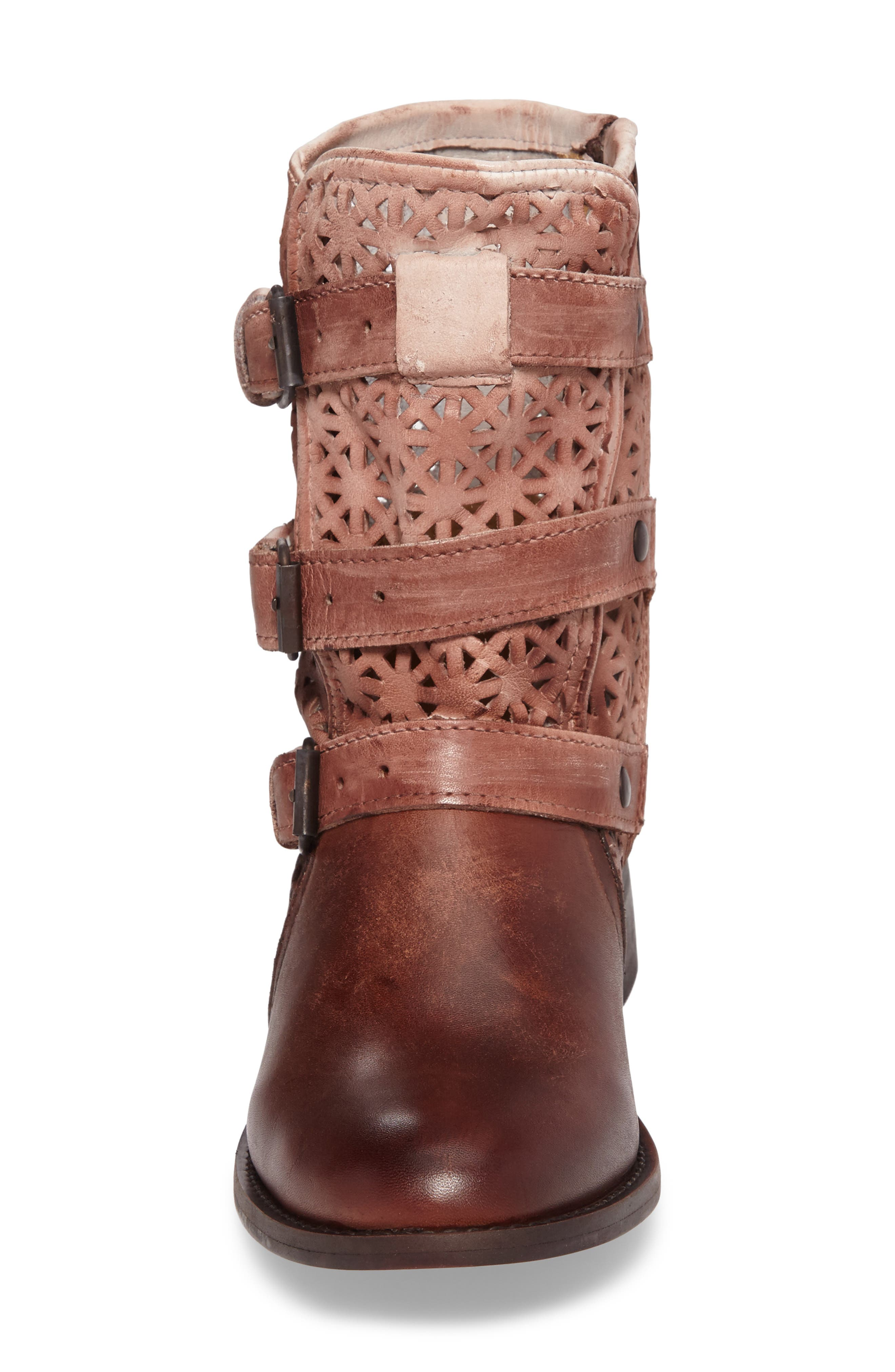 Annex Bootie,                             Alternate thumbnail 4, color,                             Brown Leather