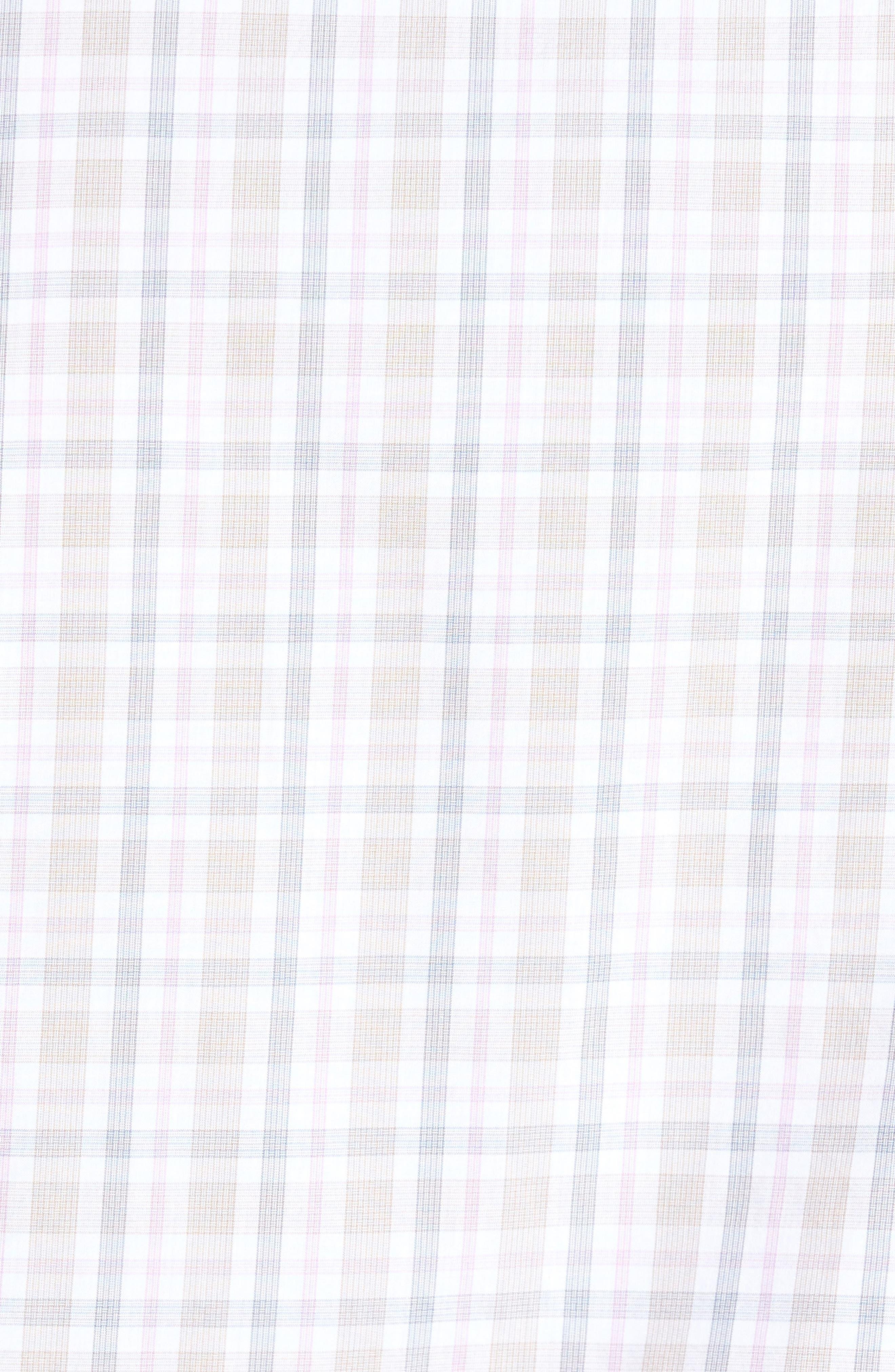 Classic Fit Check Sport Shirt,                             Alternate thumbnail 5, color,                             Tan
