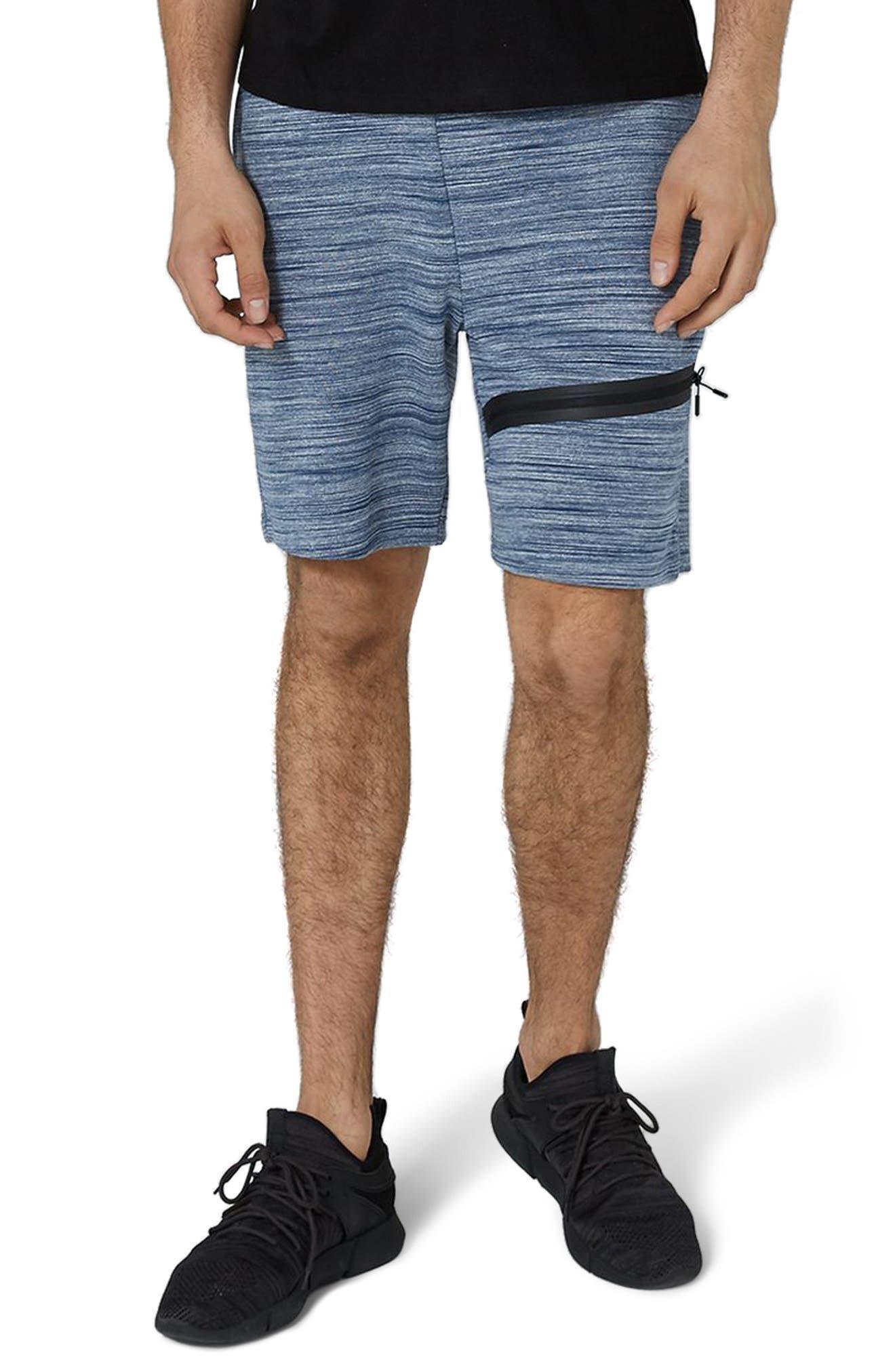 Space Dye Tech Shorts,                         Main,                         color, Mid Blue