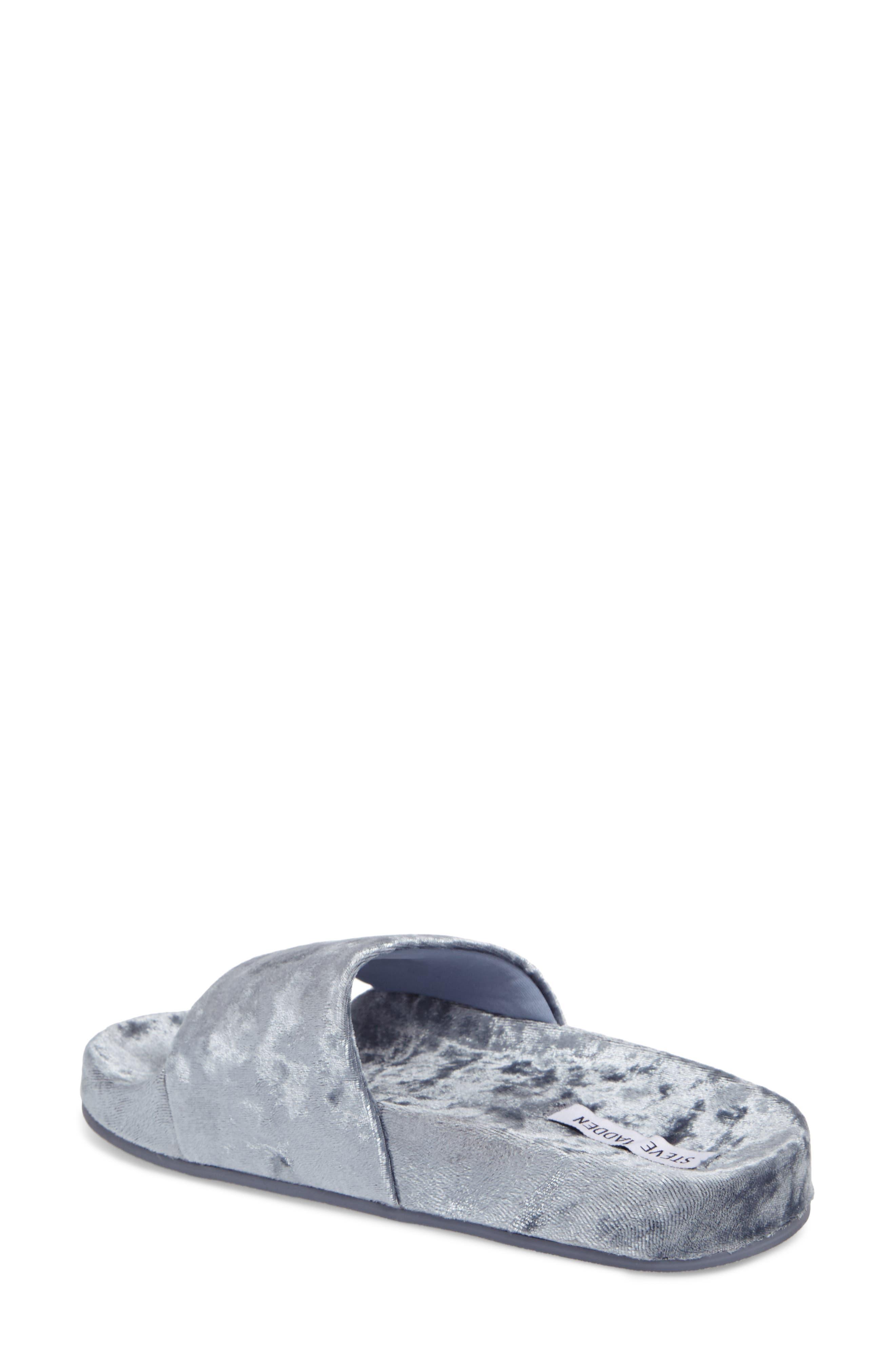 Alternate Image 2  - Steve Madden Slush Velvet Slide Sandal (Women)