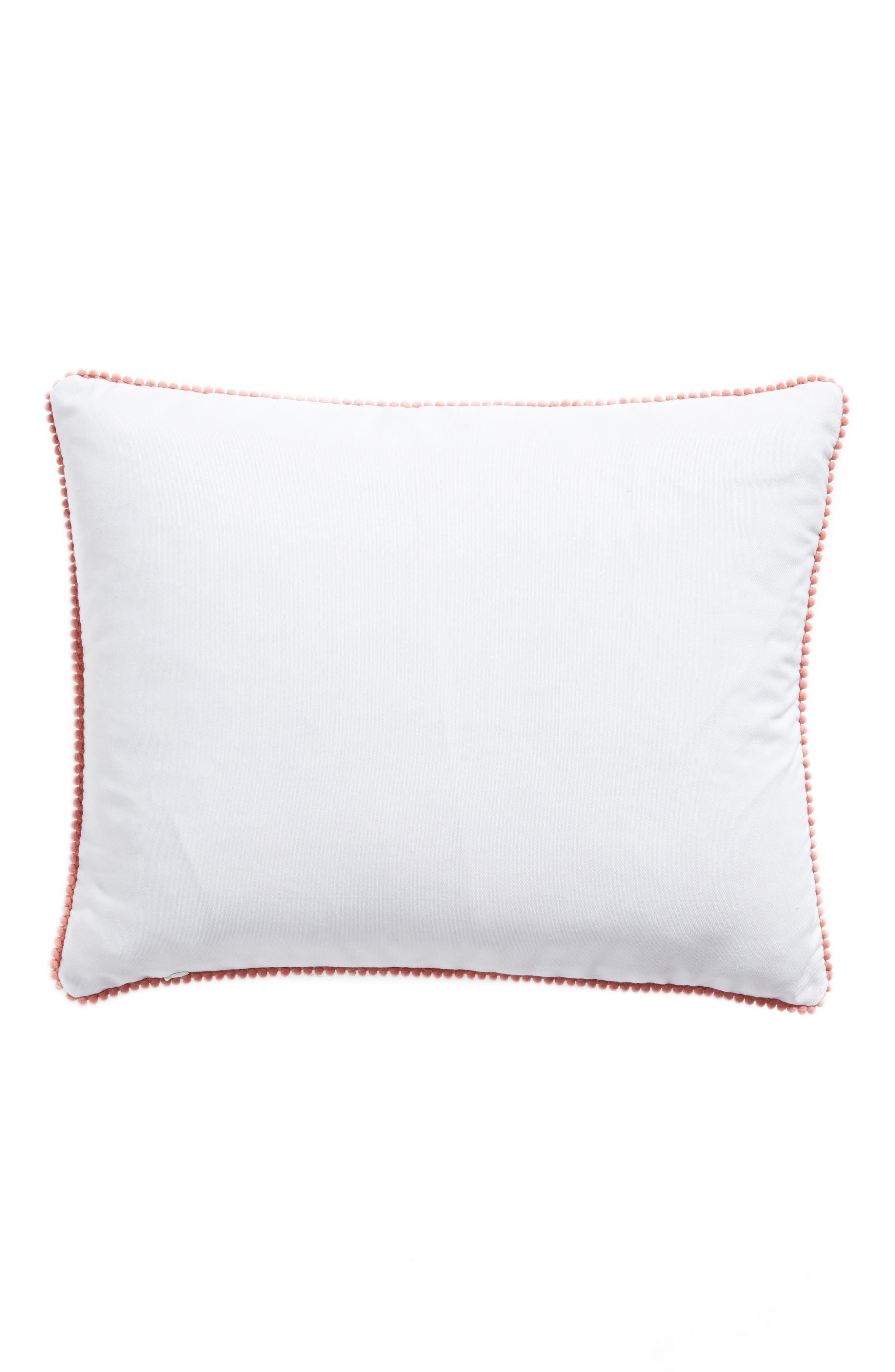 Flamingo Accent Pillow,                             Alternate thumbnail 2, color,                             Ivory