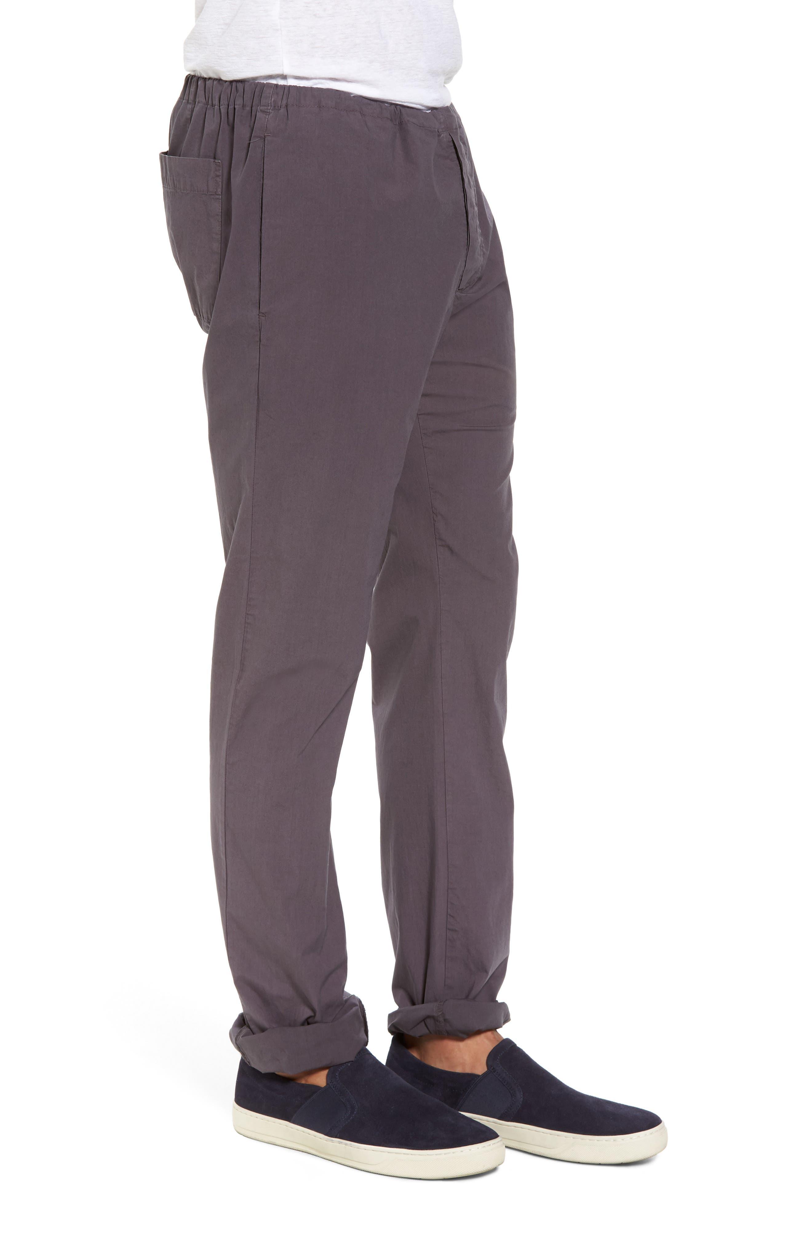 Alternate Image 3  - James Perse Slim Stretch Poplin Drawcord Pants