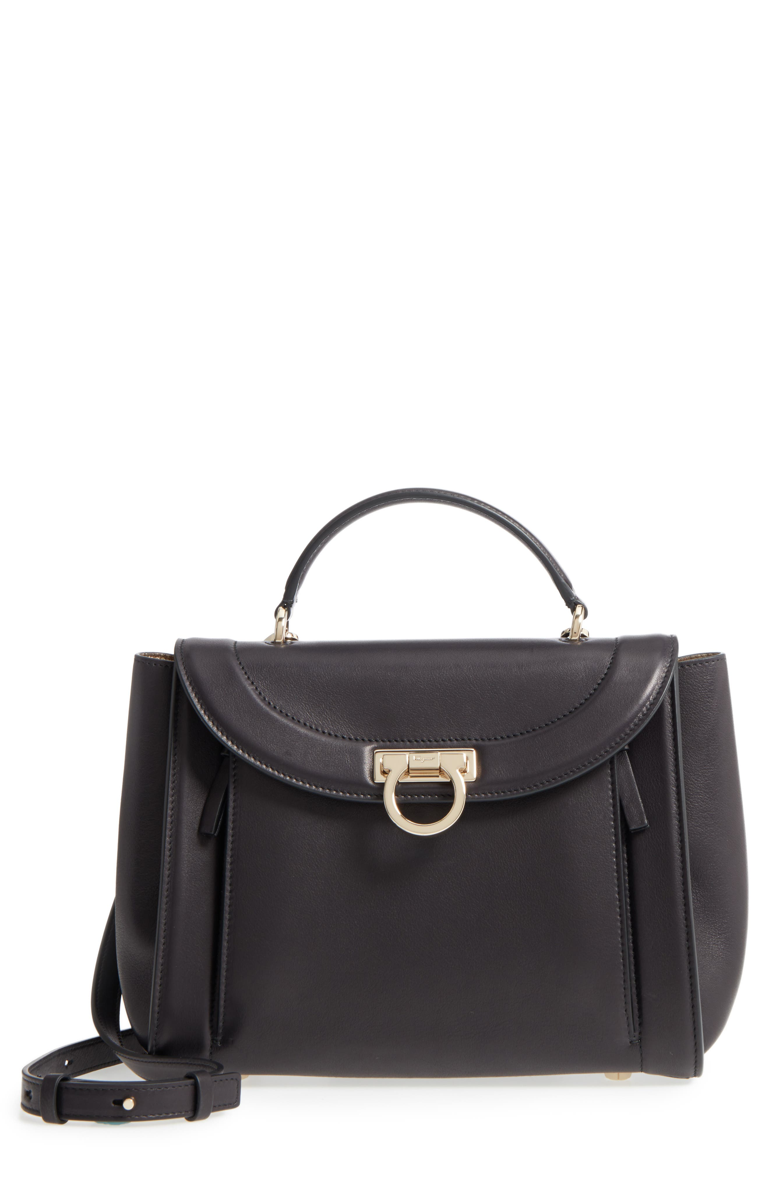 Small Sophia Leather Satchel,                             Main thumbnail 1, color,                             Nero/ Agento/ New Bianco