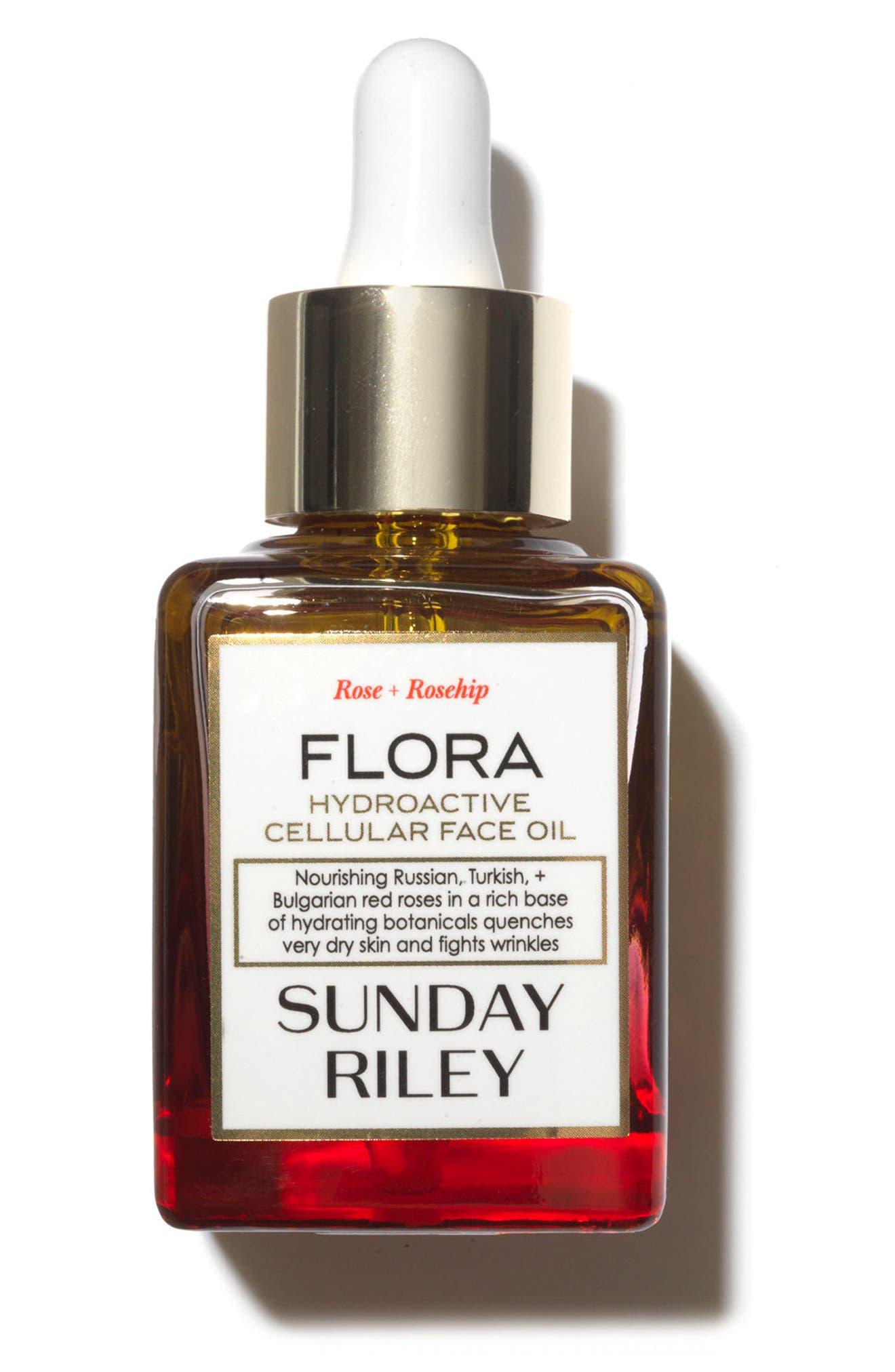 SPACE.NK.apothecary Sunday Riley Flora Hydroactive Cellular Face Oil,                             Main thumbnail 1, color,                             No Color