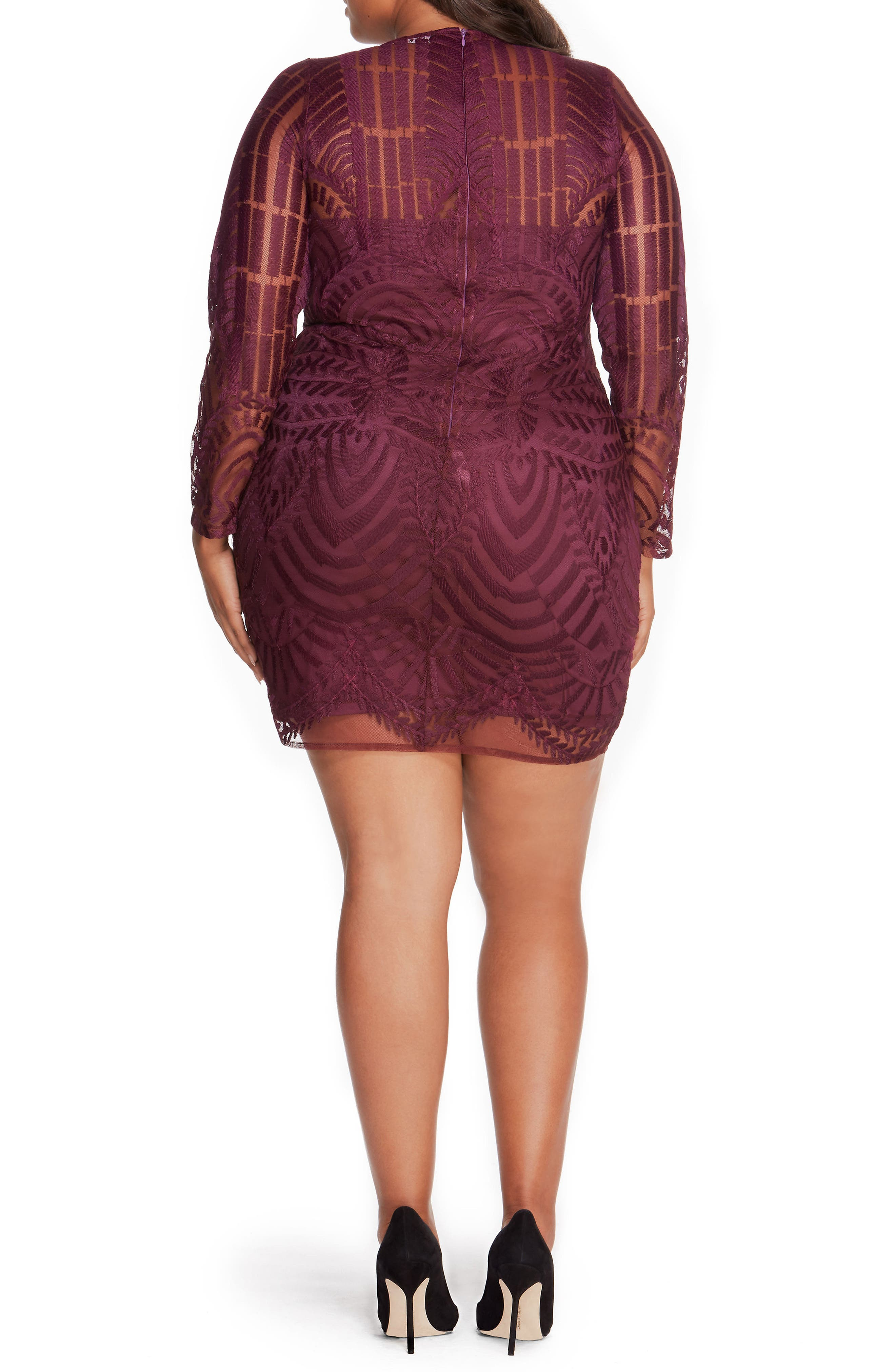 Alternate Image 2  - Rebel Wilson x Angels Embroidered Mesh Dress (Plus Size)