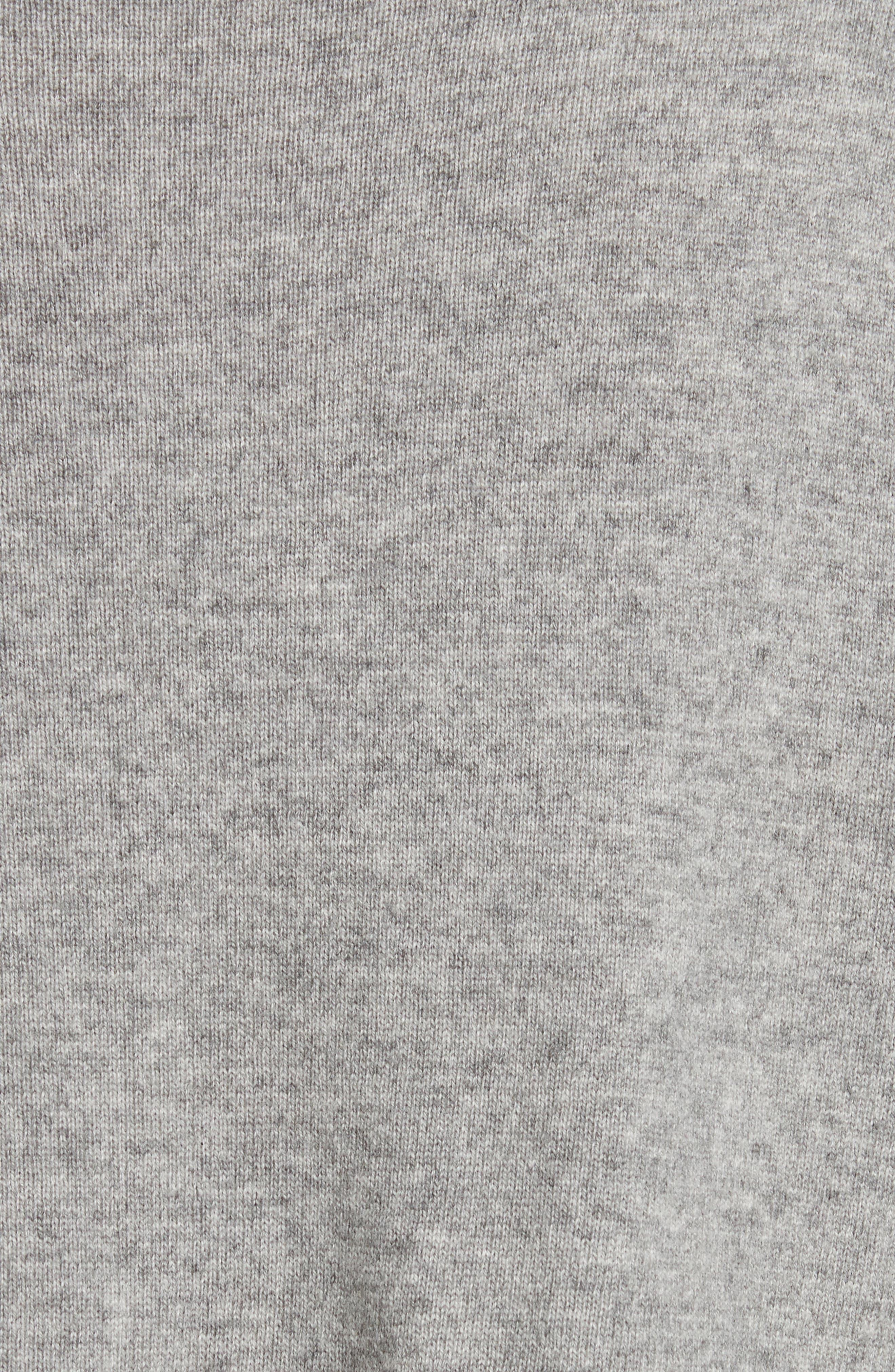 Rhea Wool & Cashmere Turtleneck Sweater,                             Alternate thumbnail 5, color,                             Grey Heather