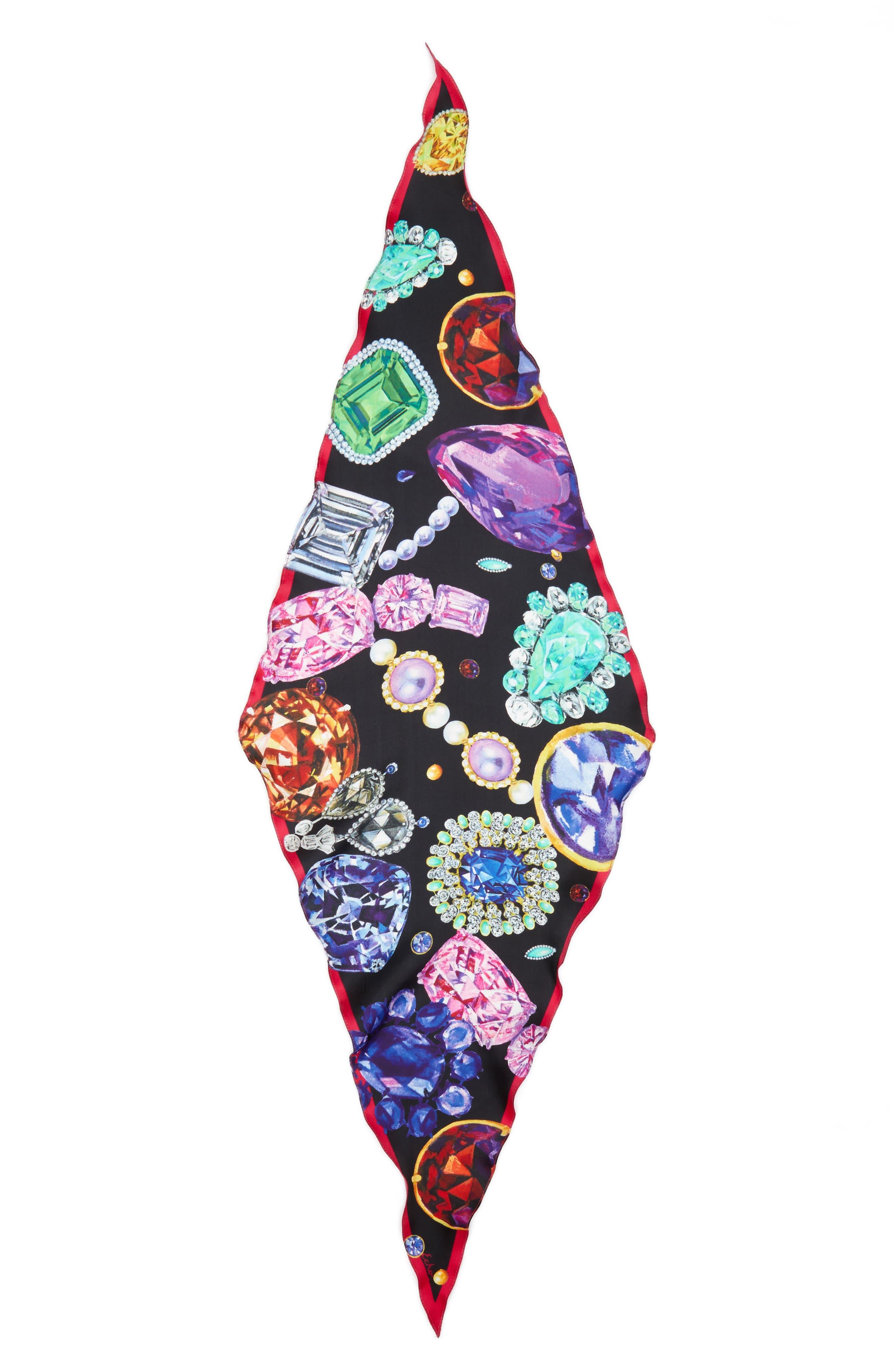 Alternate Image 2  - Echo Bejeweled Diamond Silk Scarf