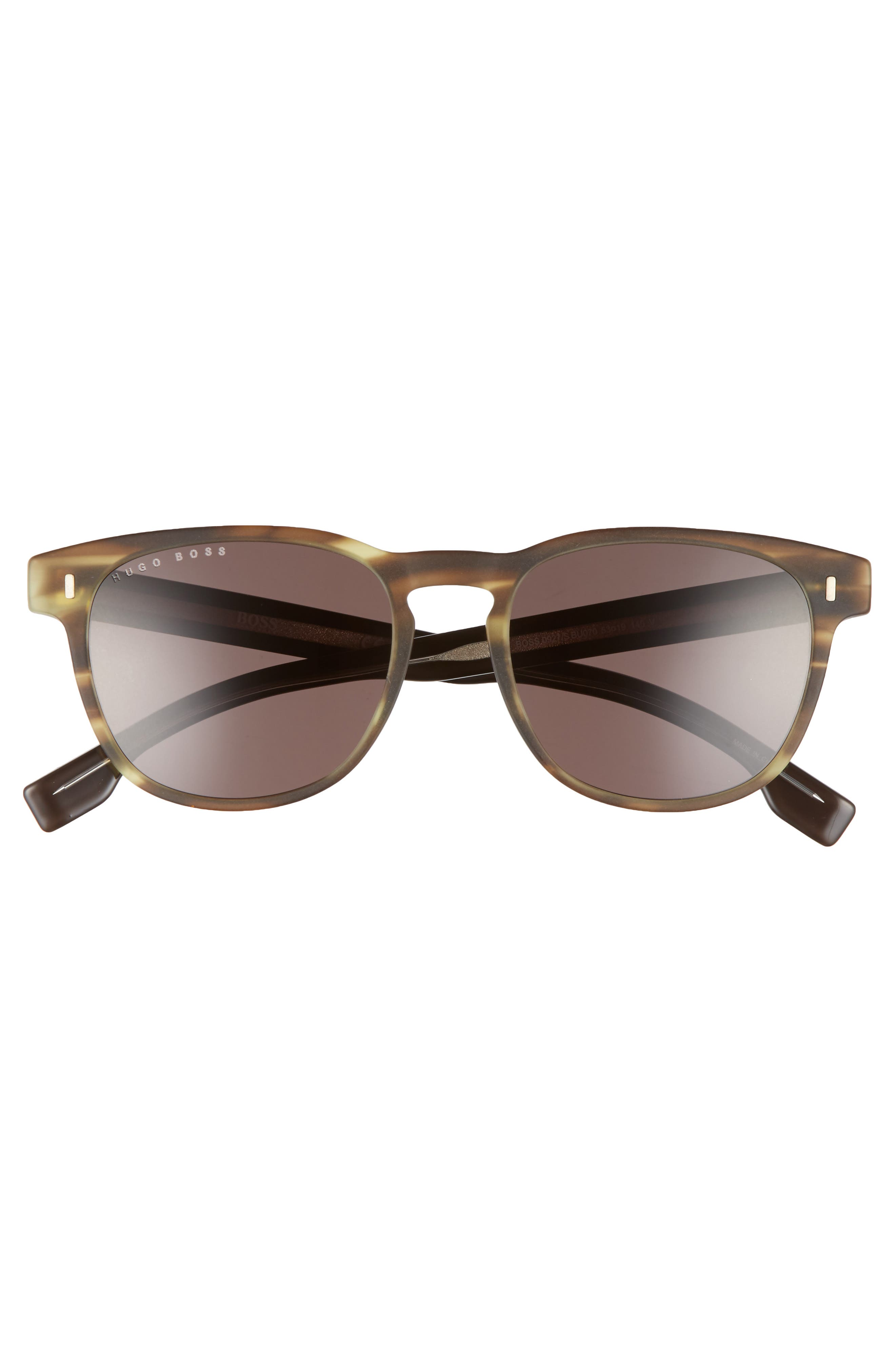 B0926S 49mm Polarized Sunglasses,                             Alternate thumbnail 2, color,                             Brown/ Brown