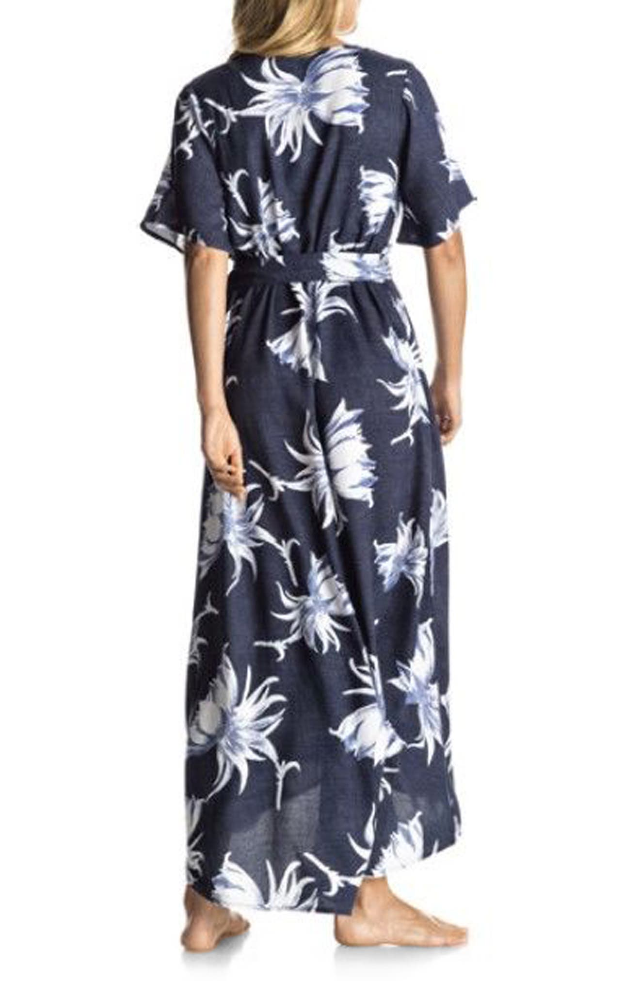 Keep the Tempo Wrap Dress,                             Alternate thumbnail 2, color,                             Dress Blue Cadaques Flower