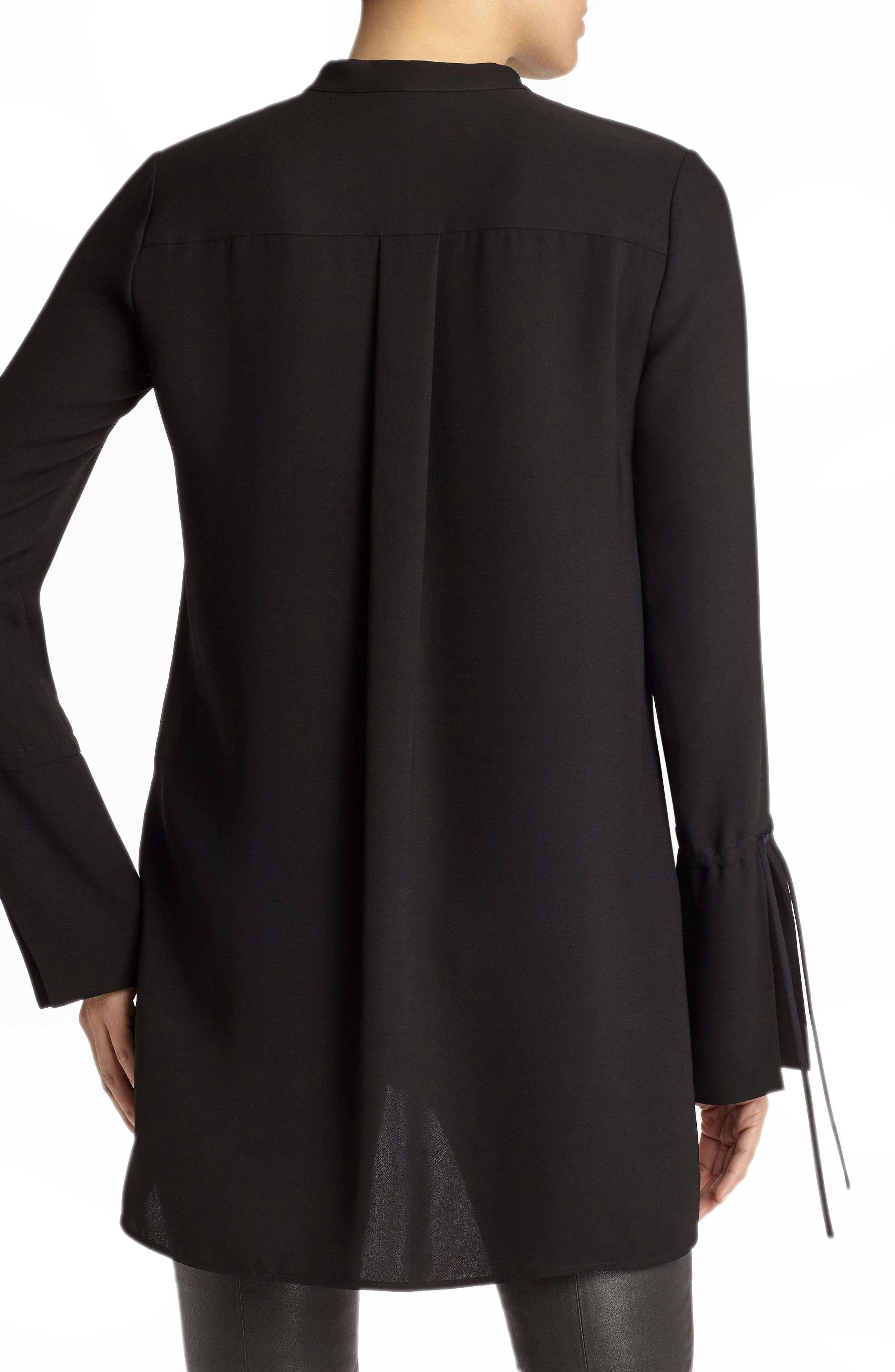 Desra Silk Blouse,                             Alternate thumbnail 2, color,                             Black