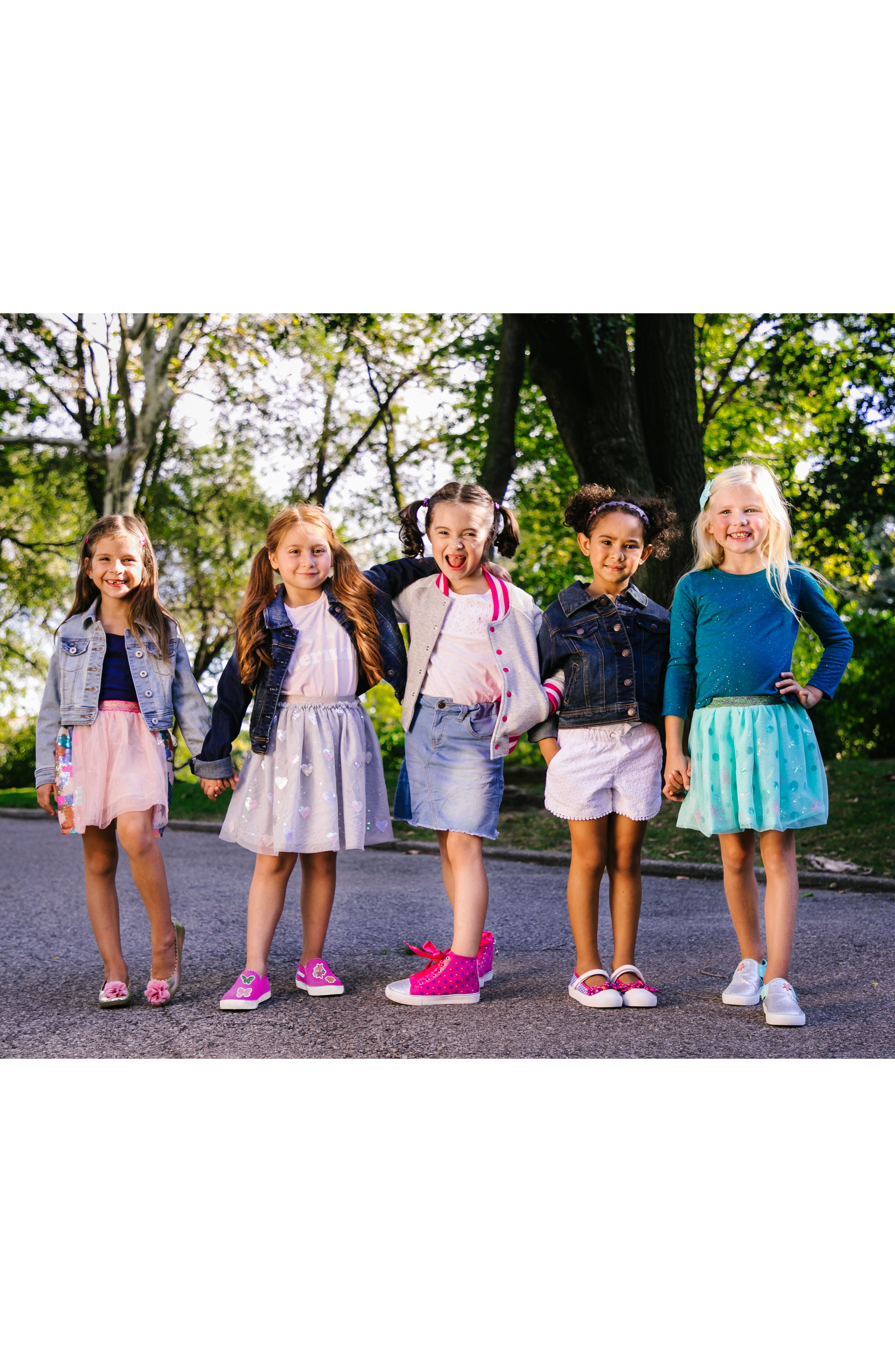 Alternate Image 7  - WellieWishers from American Girl Ashlyn Flower Strap Ballet Flat (Walker & Toddler)