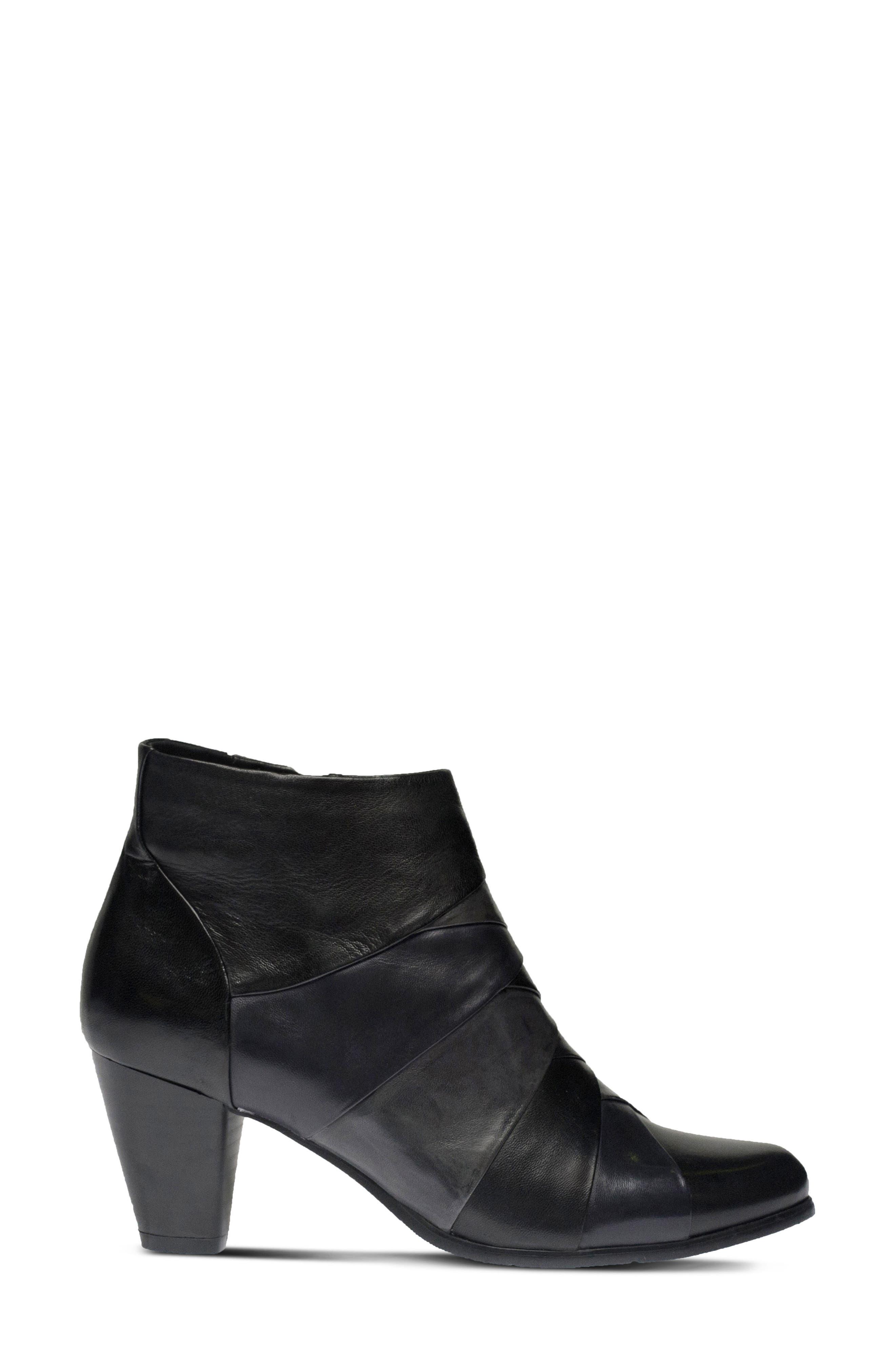Binzo Bootie,                             Alternate thumbnail 3, color,                             Black Multi Leather