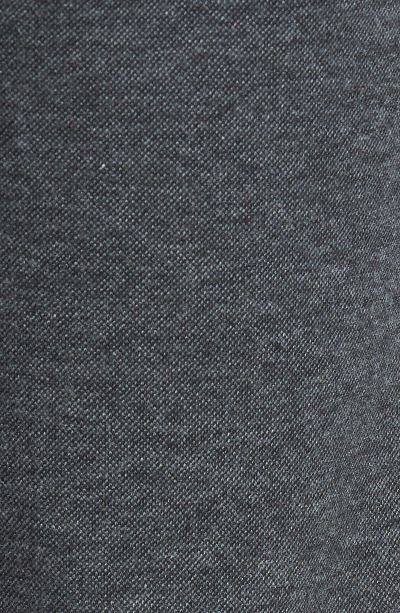 Jordan Flat Front Cotton Jogger Trousers,                             Alternate thumbnail 5, color,                             Medium Grey