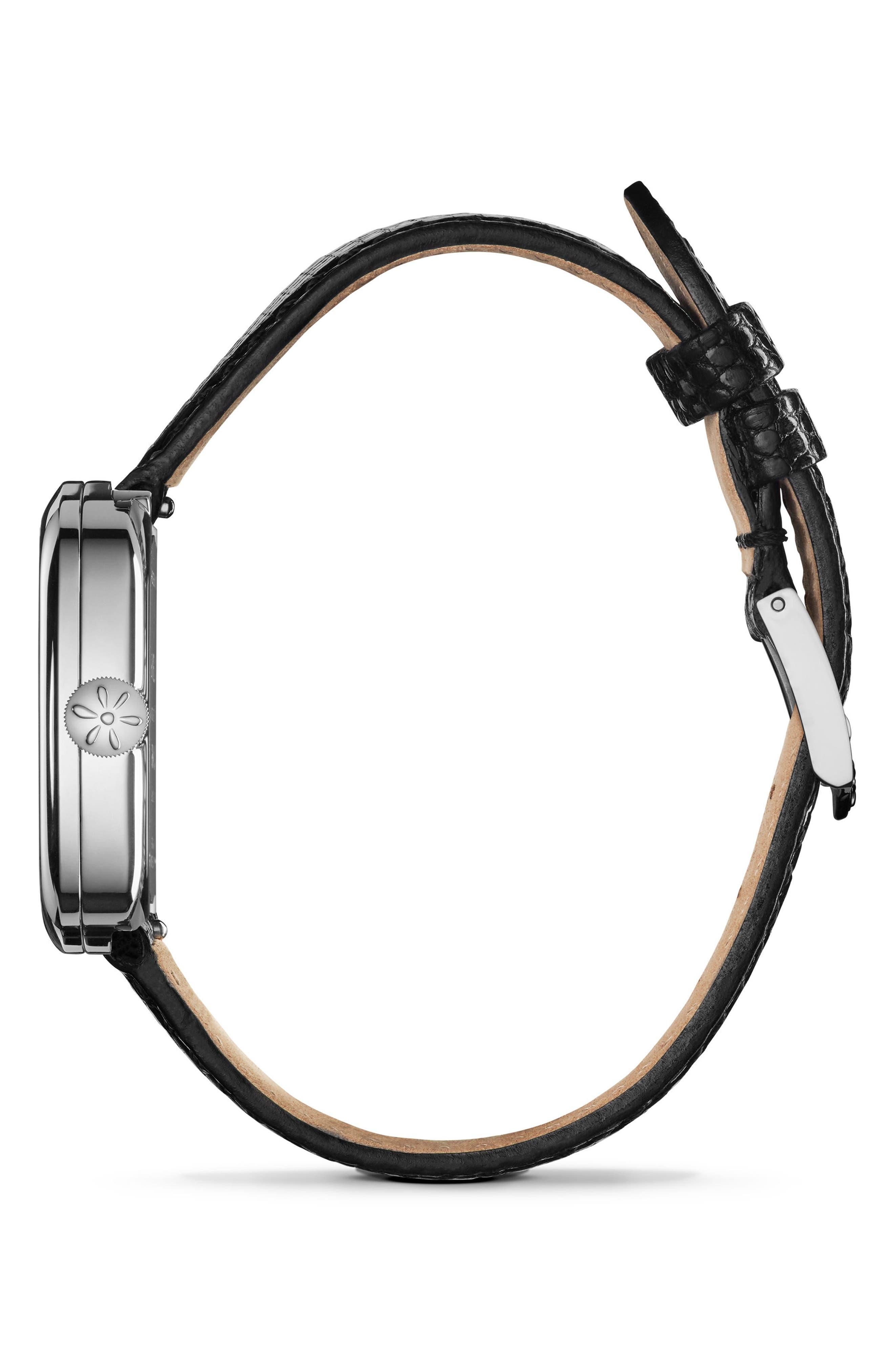 Alternate Image 2  - Gomelsky The Eppie Sneed Mini Lizardskin Strap Watch, 32mm