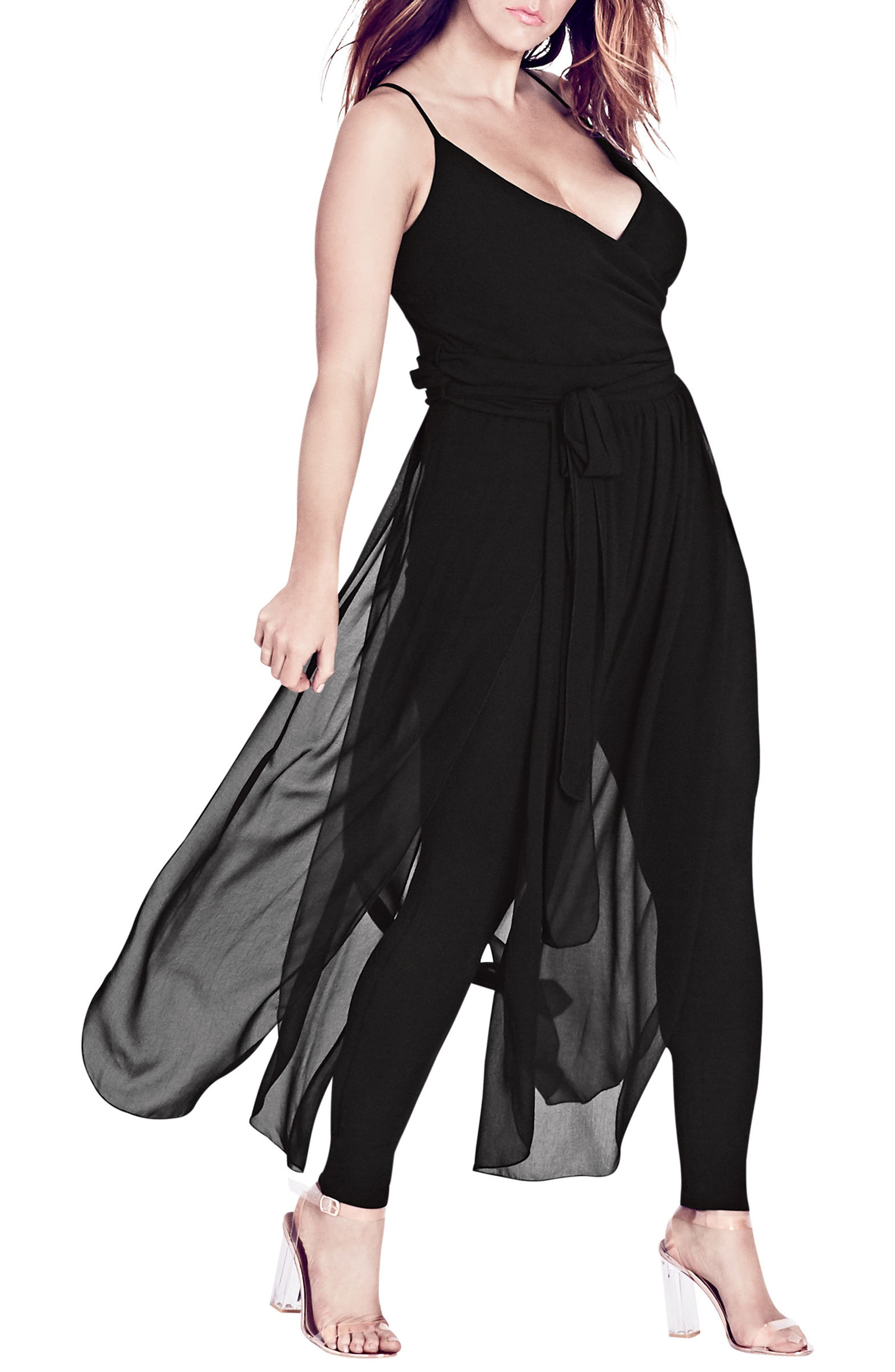 City Chic Jumpsuit Overlay (Plus Size)