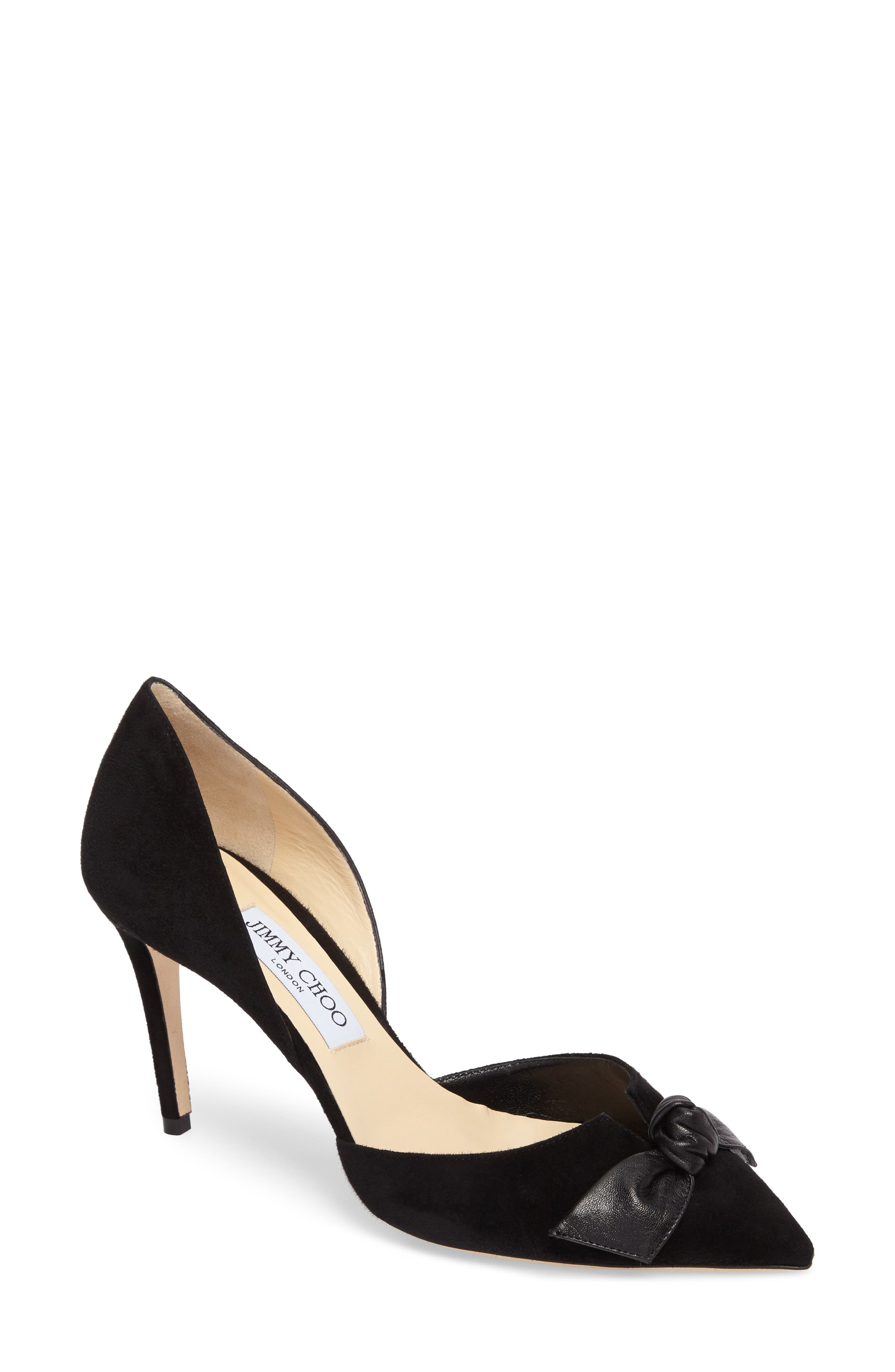 Twinkle Knotted Pump,                         Main,                         color, Black/ Black