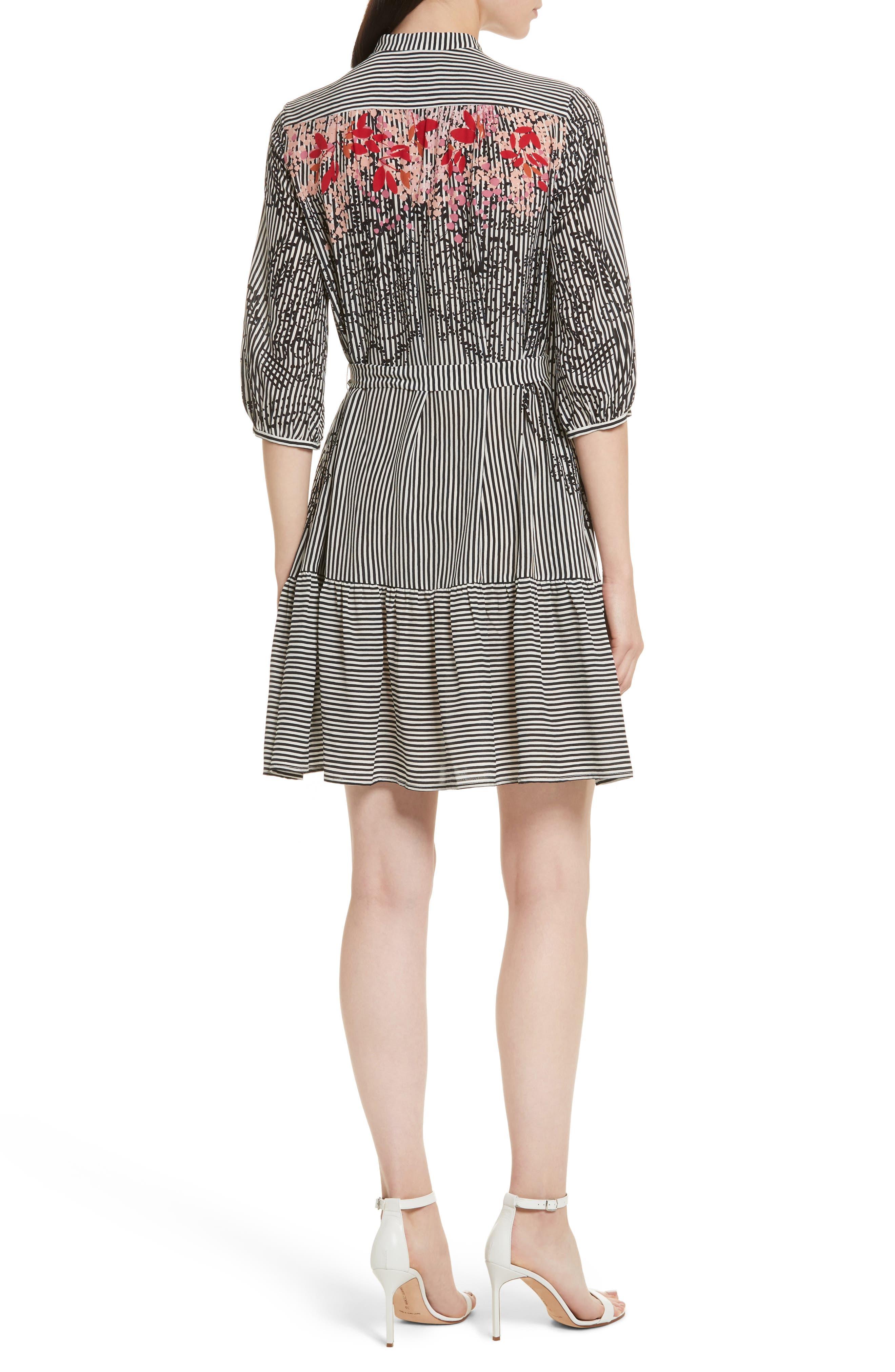 Alternate Image 2  - SALONI Tyra Print Silk Fit & Flare Dress