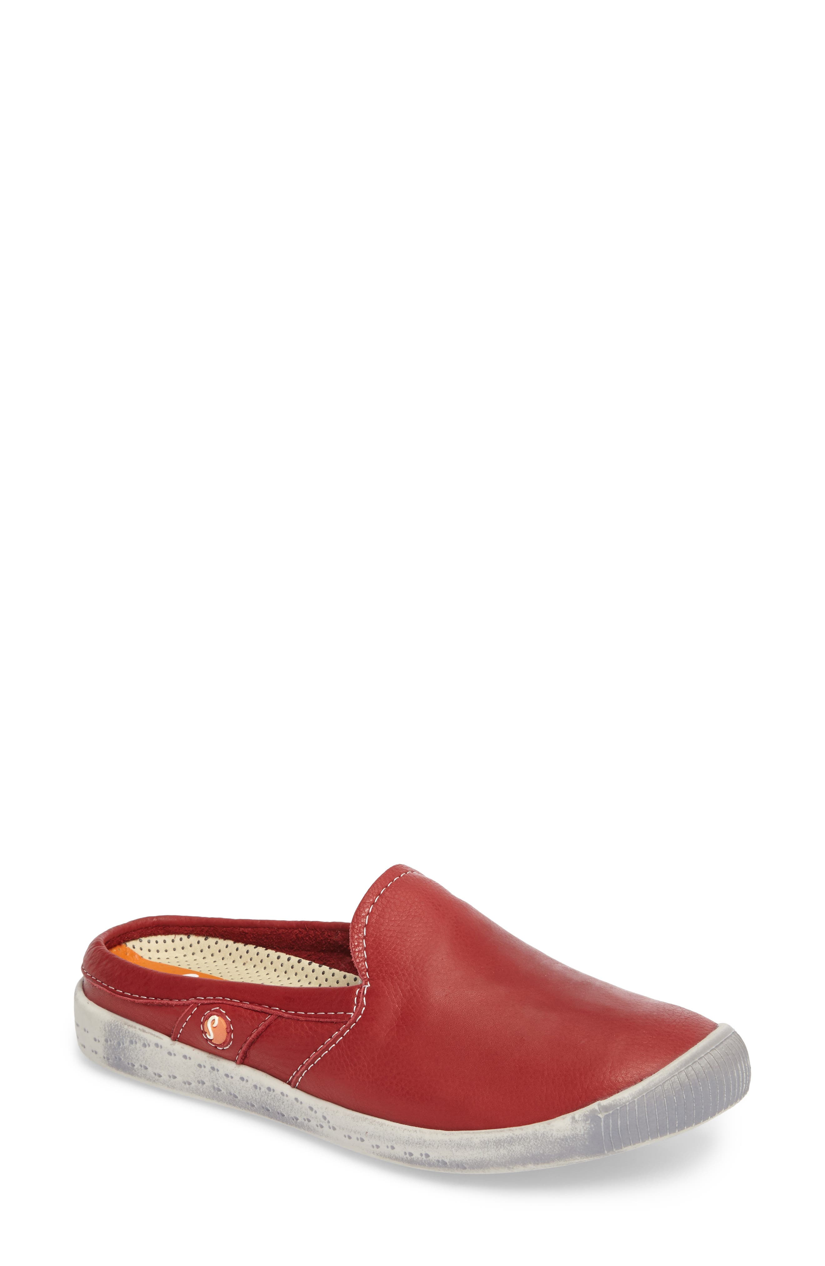 Imo Sneaker Mule,                         Main,                         color, 005 Red Leather