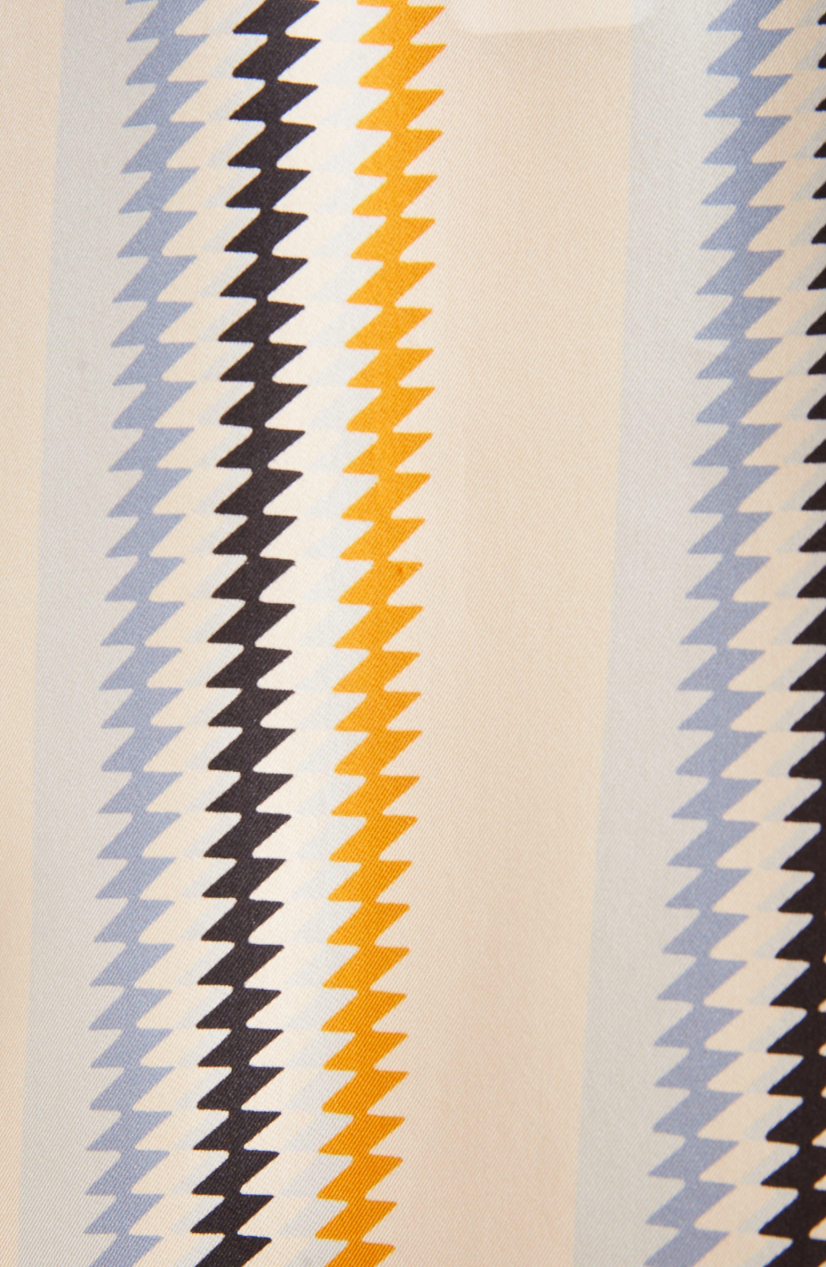 Fluid Stripe Silk Shirt,                             Alternate thumbnail 5, color,                             Zig Zag Stripe