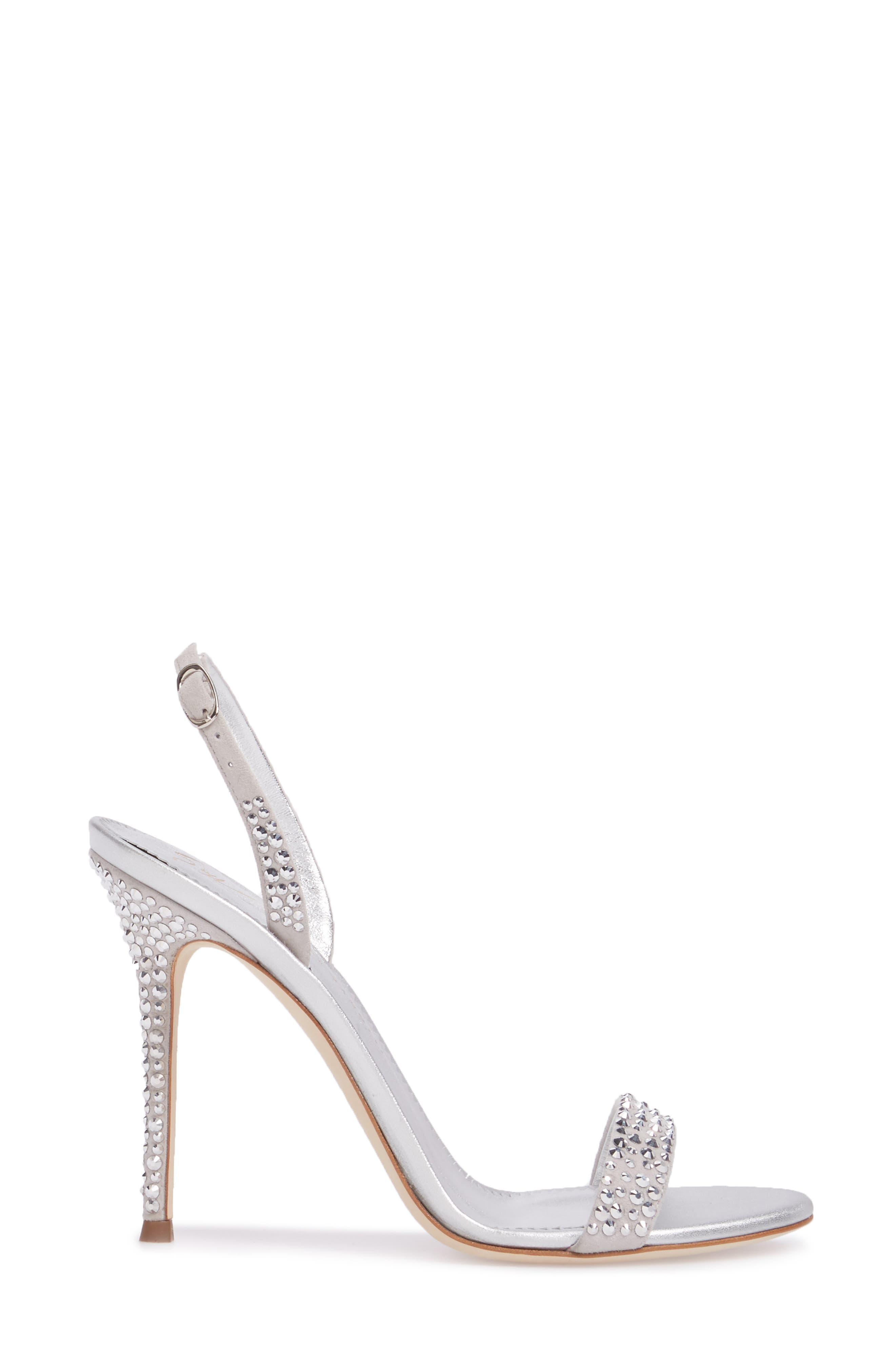 Musitco Crystal Embellished Slingback Sandal,                             Alternate thumbnail 3, color,                             Grey