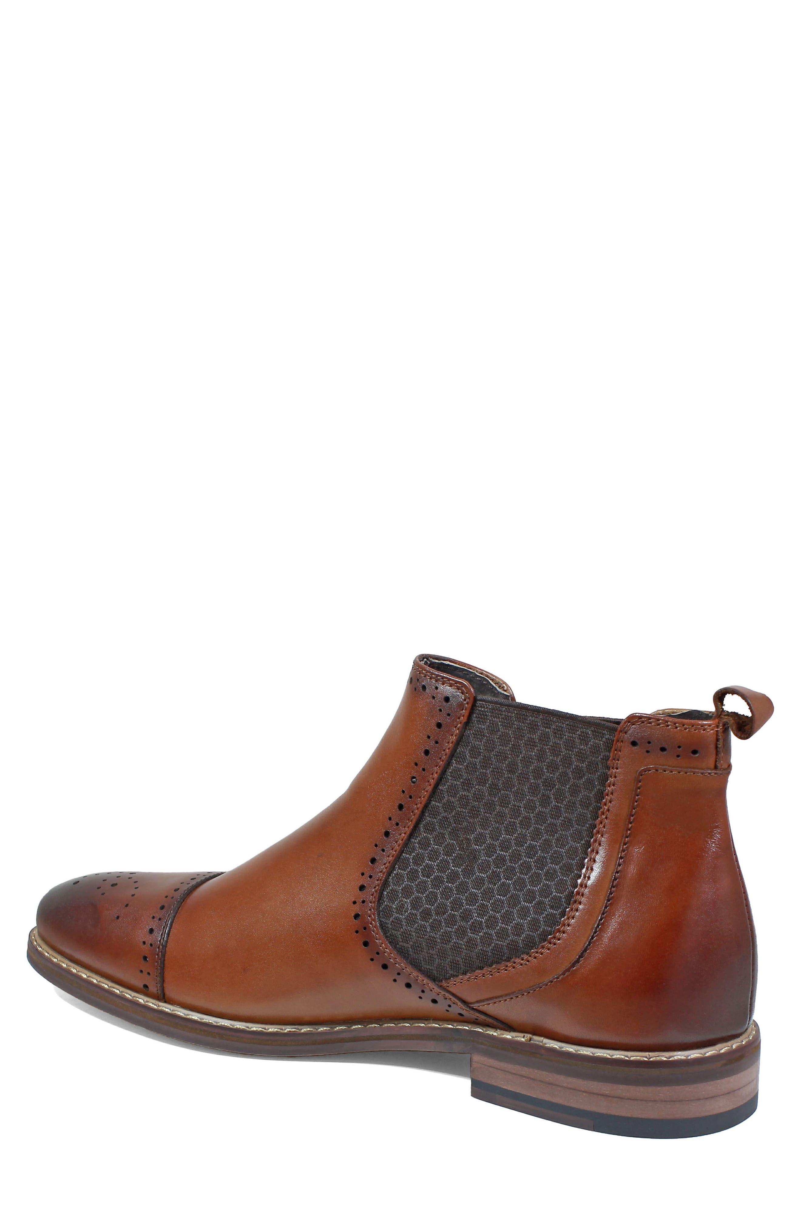 Alomar Chelsea Boot,                             Alternate thumbnail 2, color,                             Cognac Leather