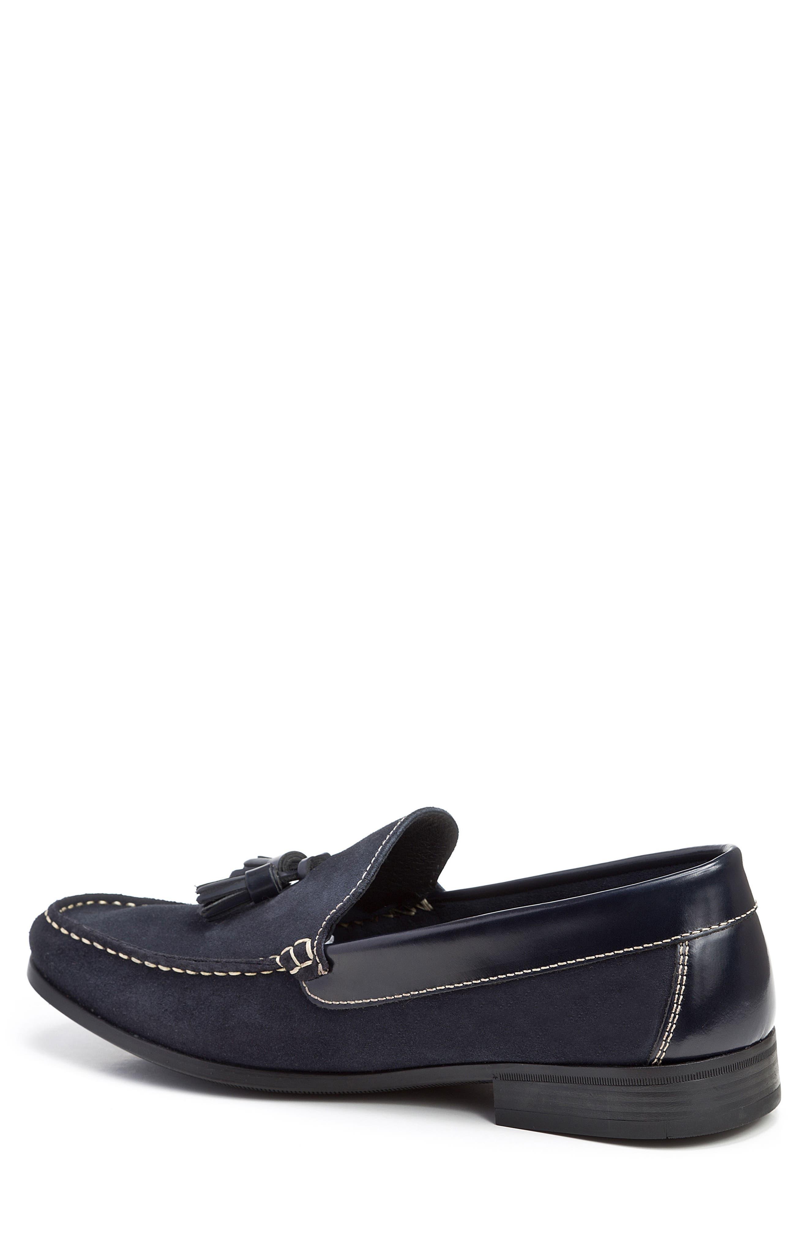 Hojas Tassel Loafer,                             Alternate thumbnail 2, color,                             Navy Leather