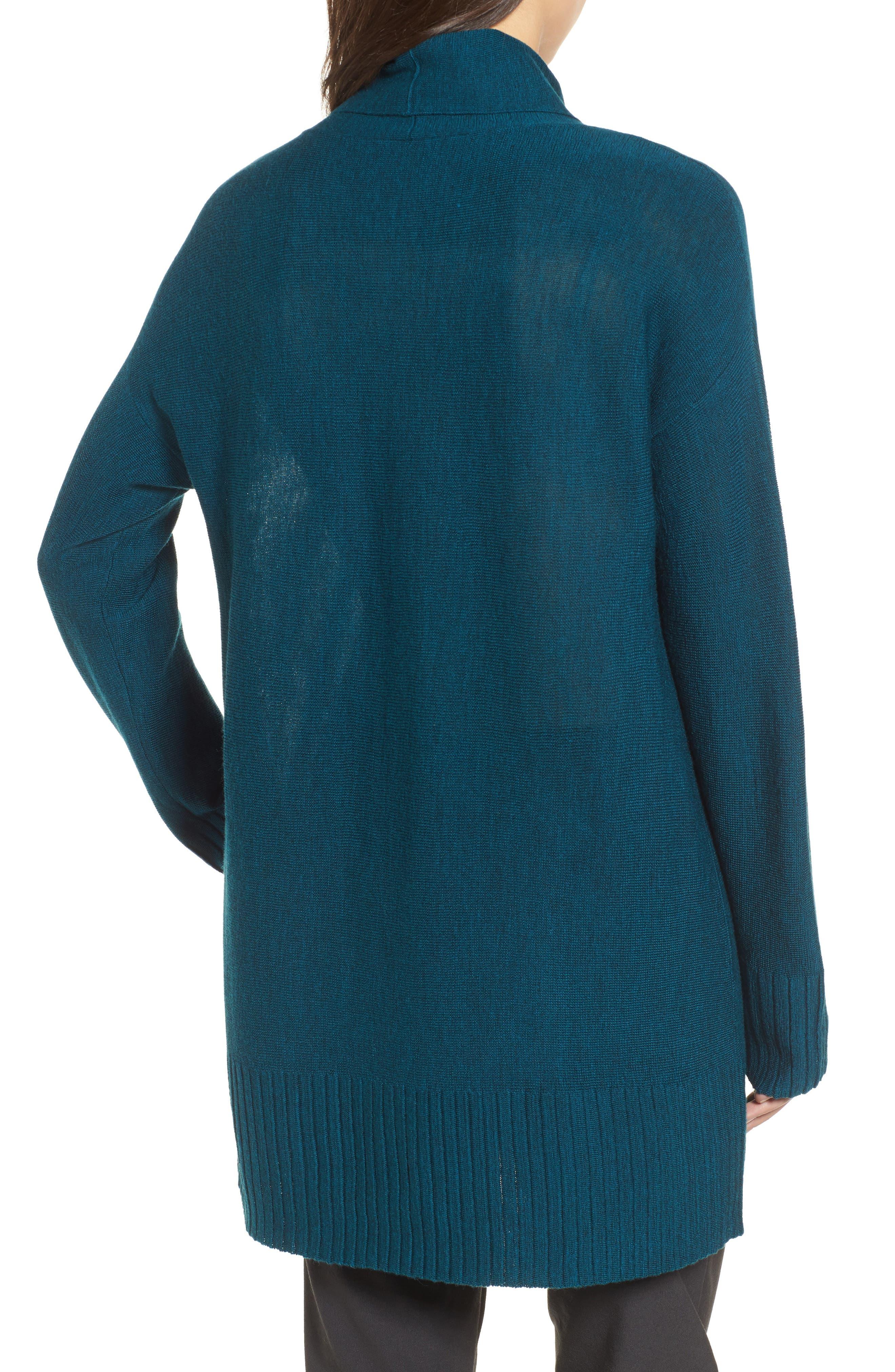 Merino Wool Tunic Sweater,                             Alternate thumbnail 2, color,                             Blue Spruce