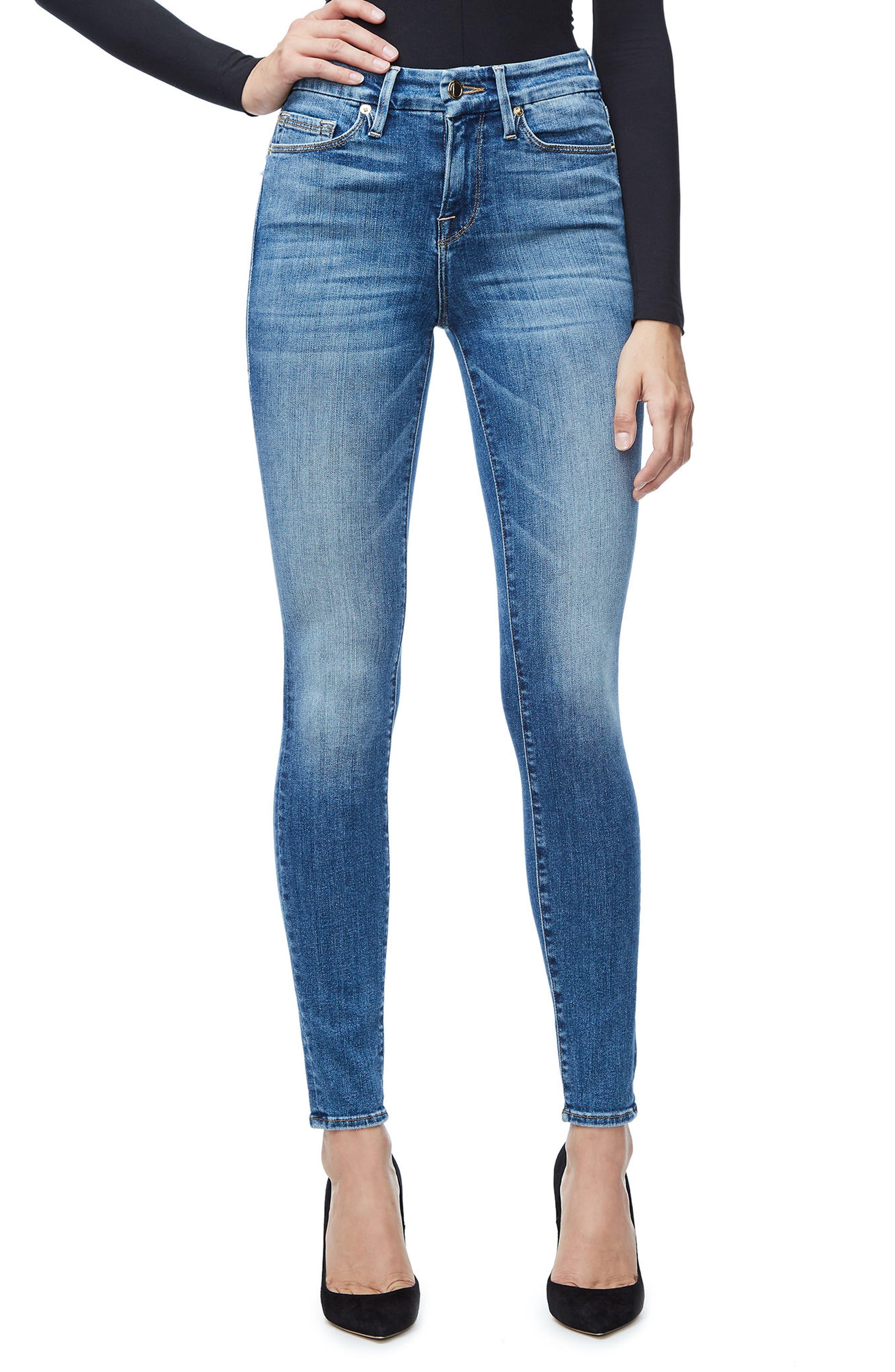 Good Legs High Waist Skinny Jeans (Blue 107),                         Main,                         color, Blue 107