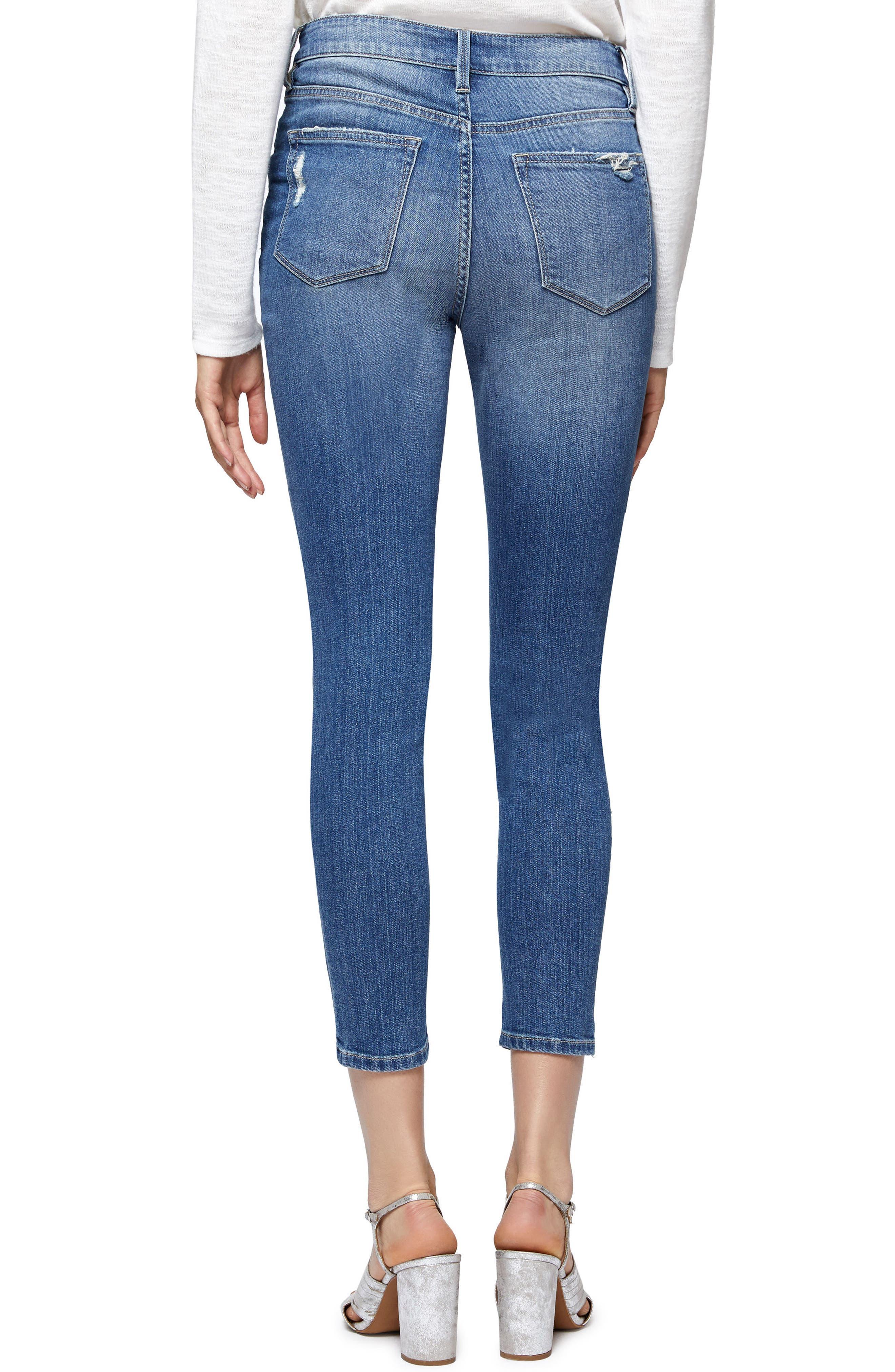 Alternate Image 2  - Sanctuary Robbie Rip & Repair Skinny Ankle Jeans (Taylor)