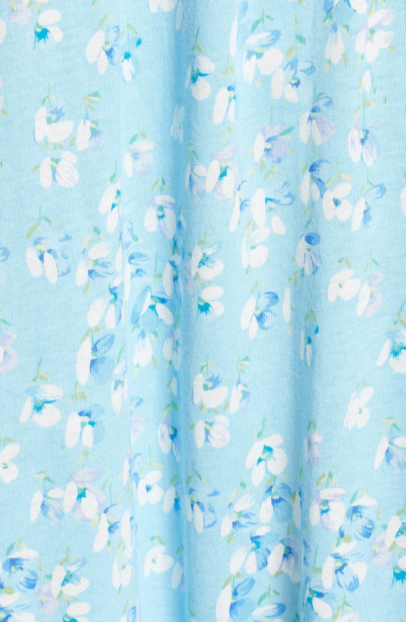 Waltz Nightgown,                             Alternate thumbnail 6, color,                             Light Sea Glass/ Multi Floral