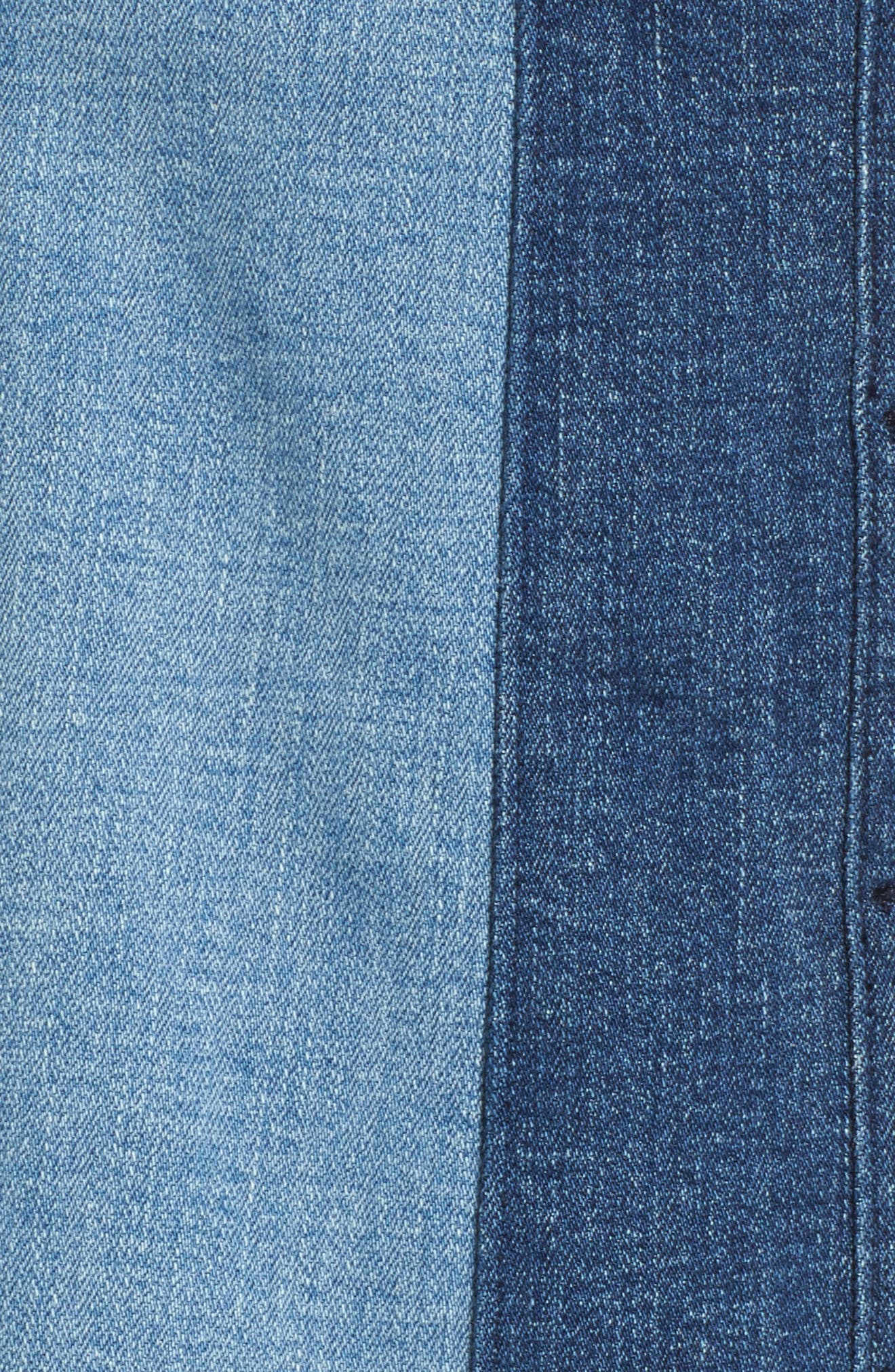 Beatty Denim Miniskirt,                             Alternate thumbnail 5, color,                             Indigo