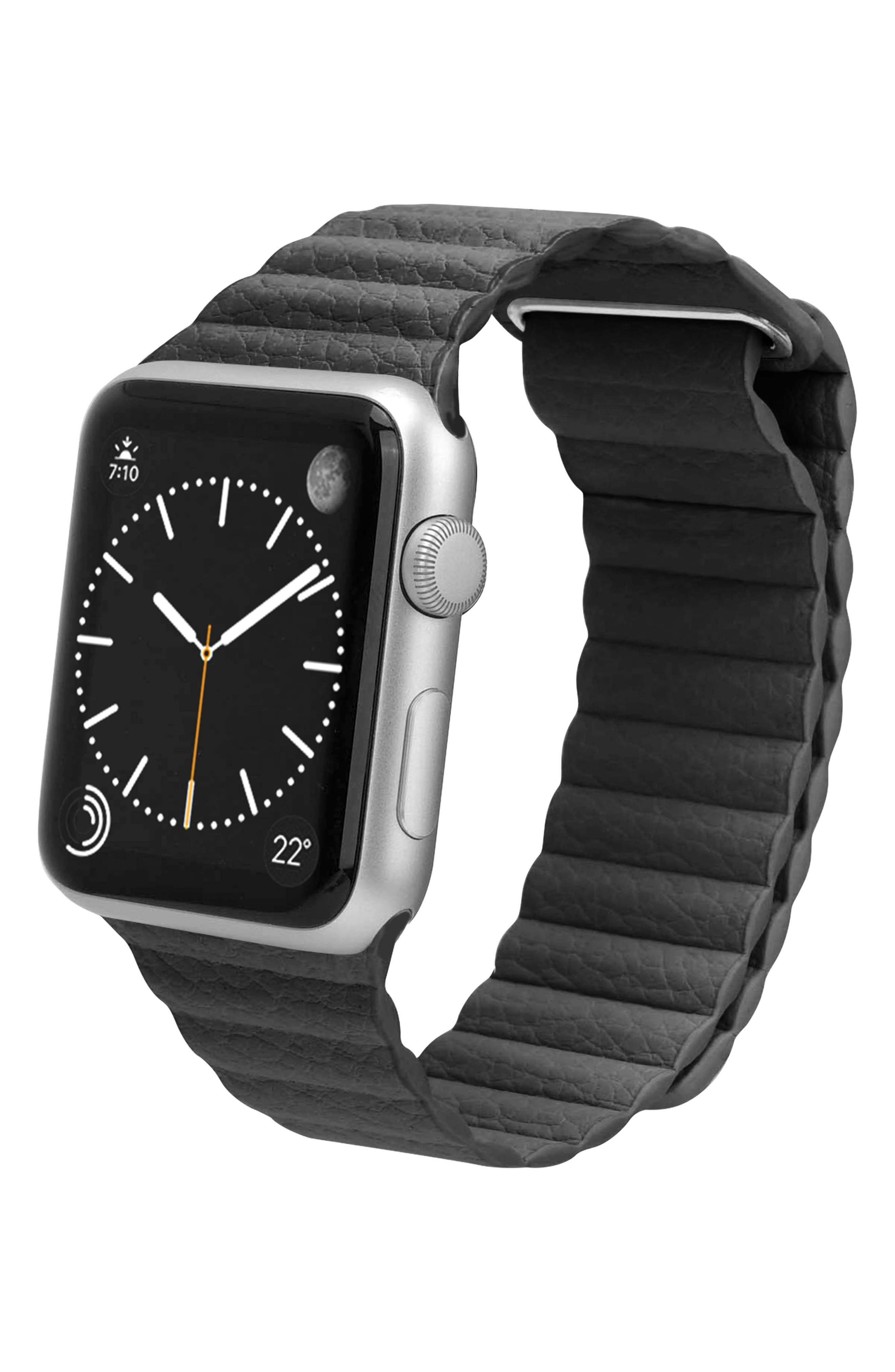 Magnetic Apple Watch Strap, 28mm,                             Alternate thumbnail 3, color,                             Slate