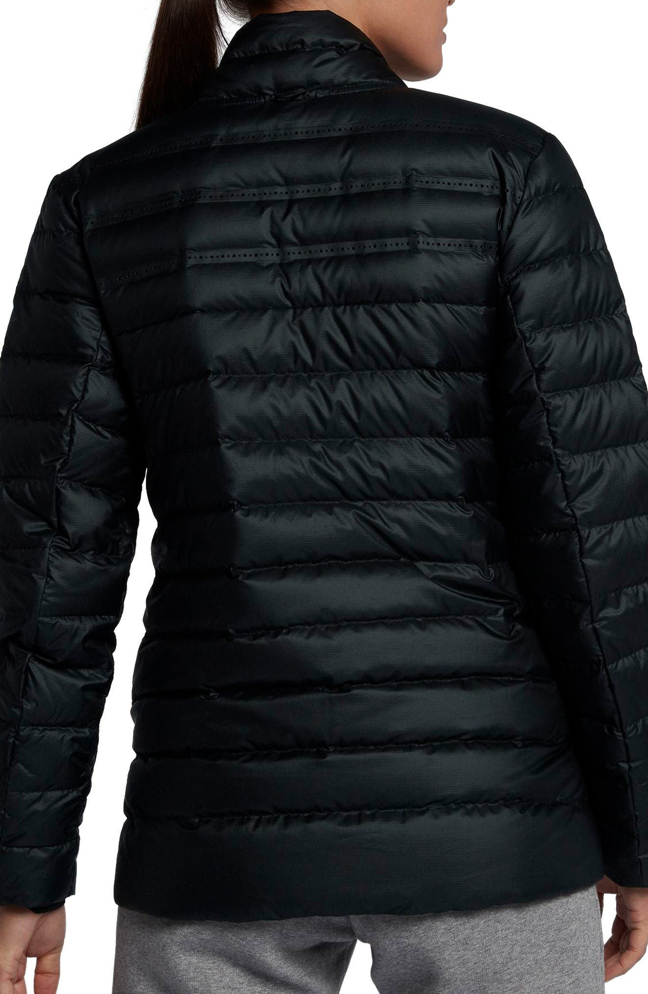 Sportswear AeroLoft 3-in-1 Down Jacket,                             Alternate thumbnail 9, color,                             Black/ Black/ Black