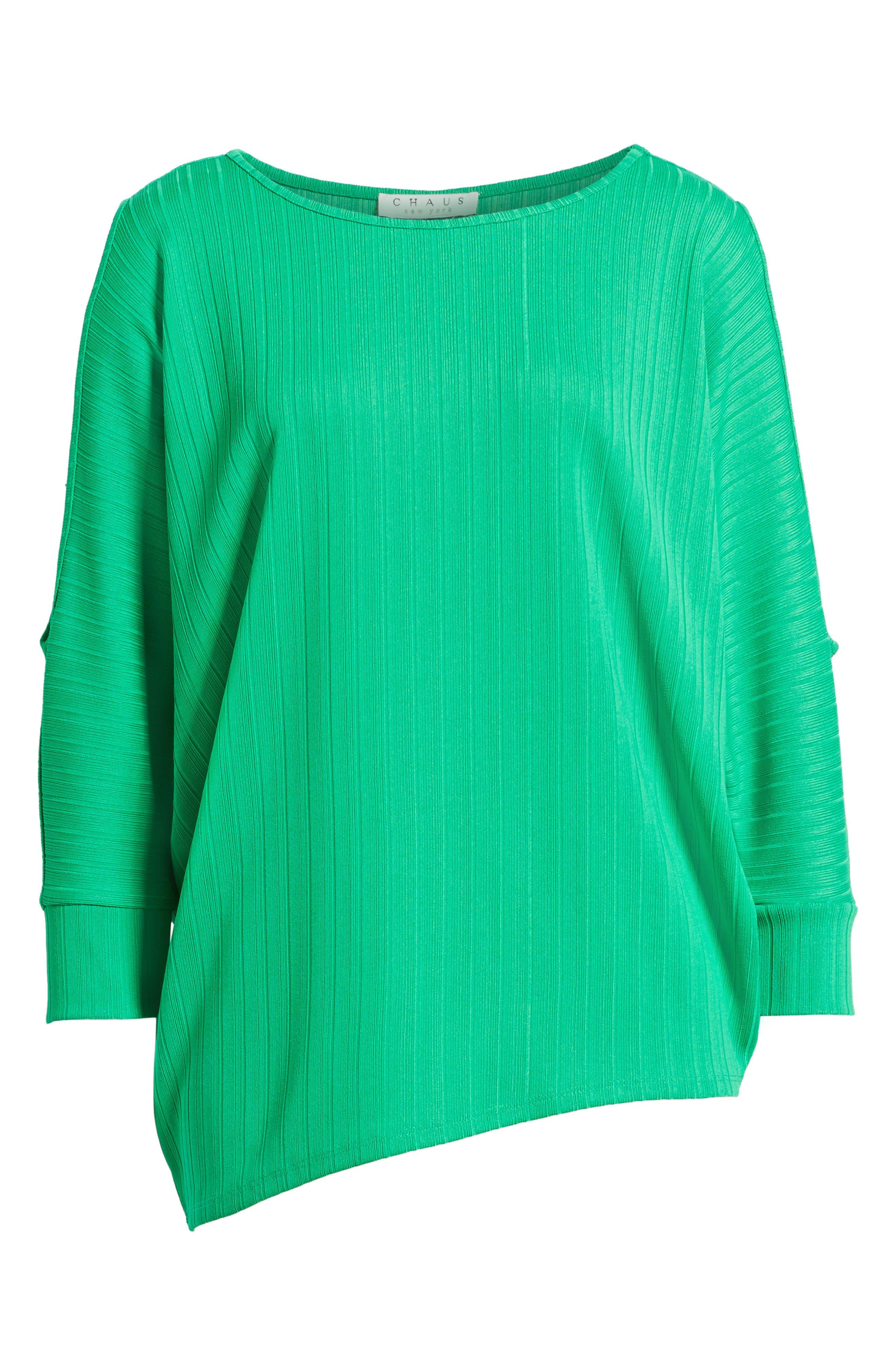 Alternate Image 6  - Chaus Ribbed Knit Cold Shoulder Top