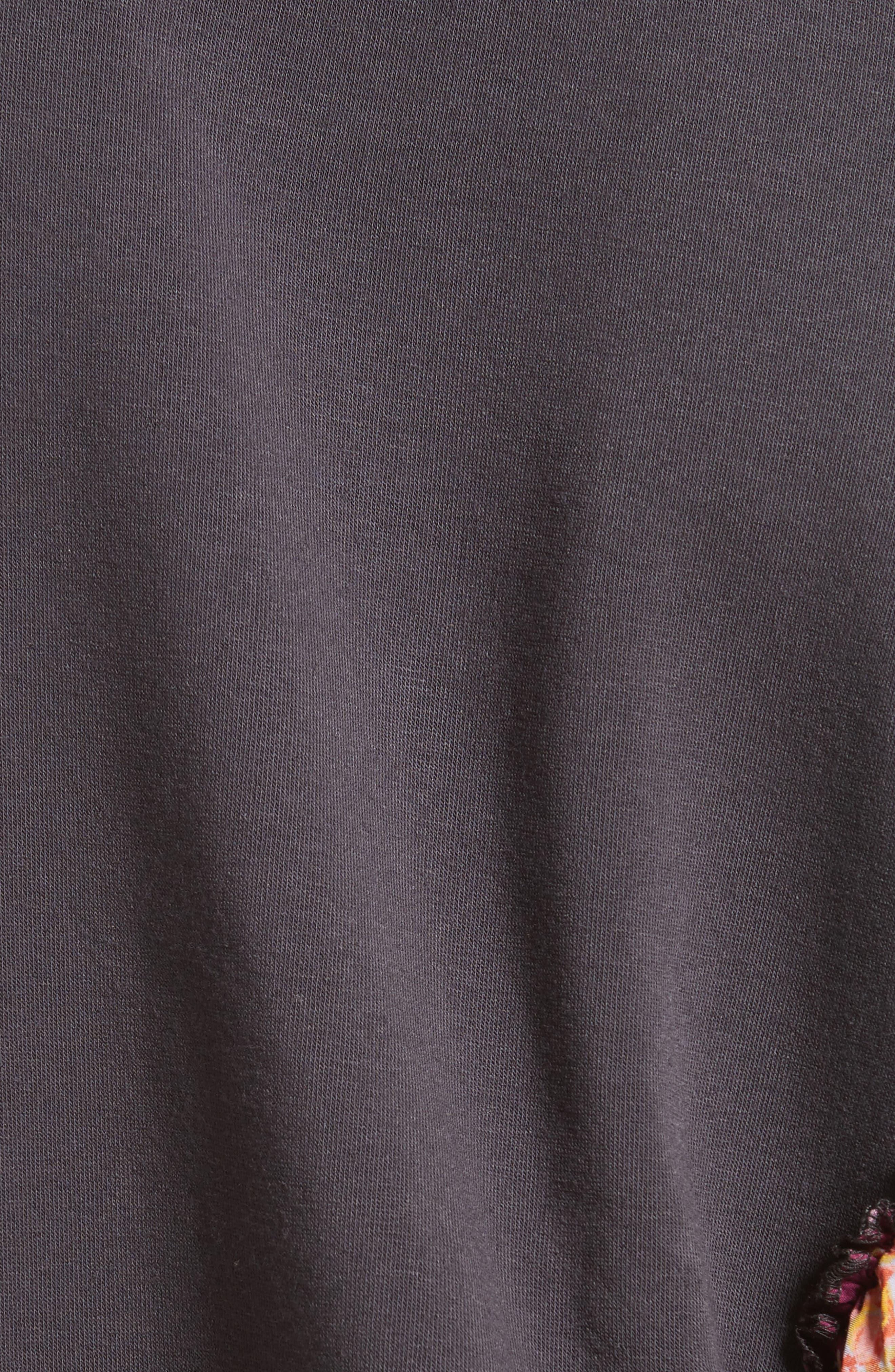She's Just Cute Sweatshirt,                             Alternate thumbnail 4, color,                             Black