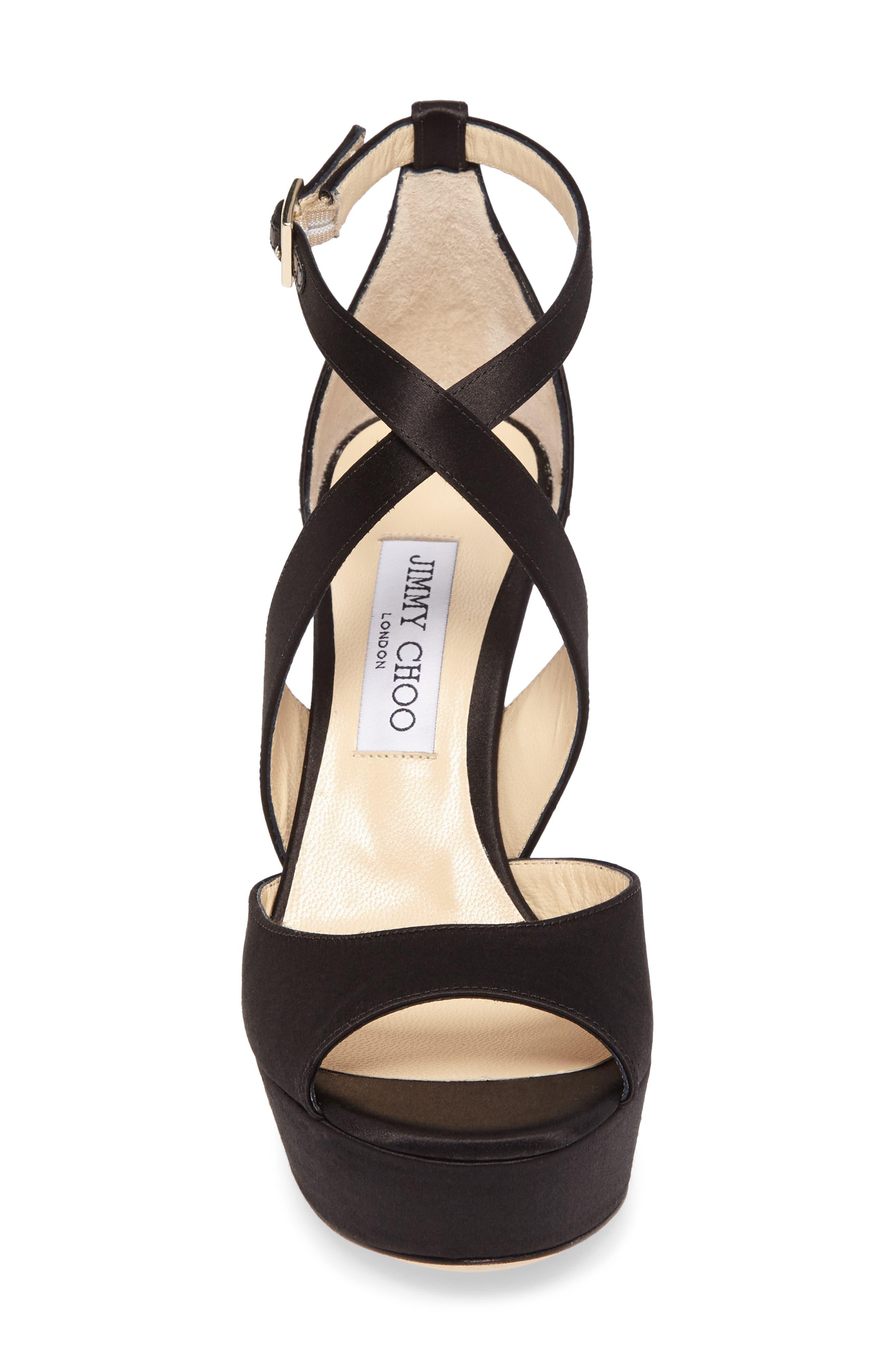 April Platform Sandal,                             Alternate thumbnail 4, color,                             Black/ Anthracite/ Black