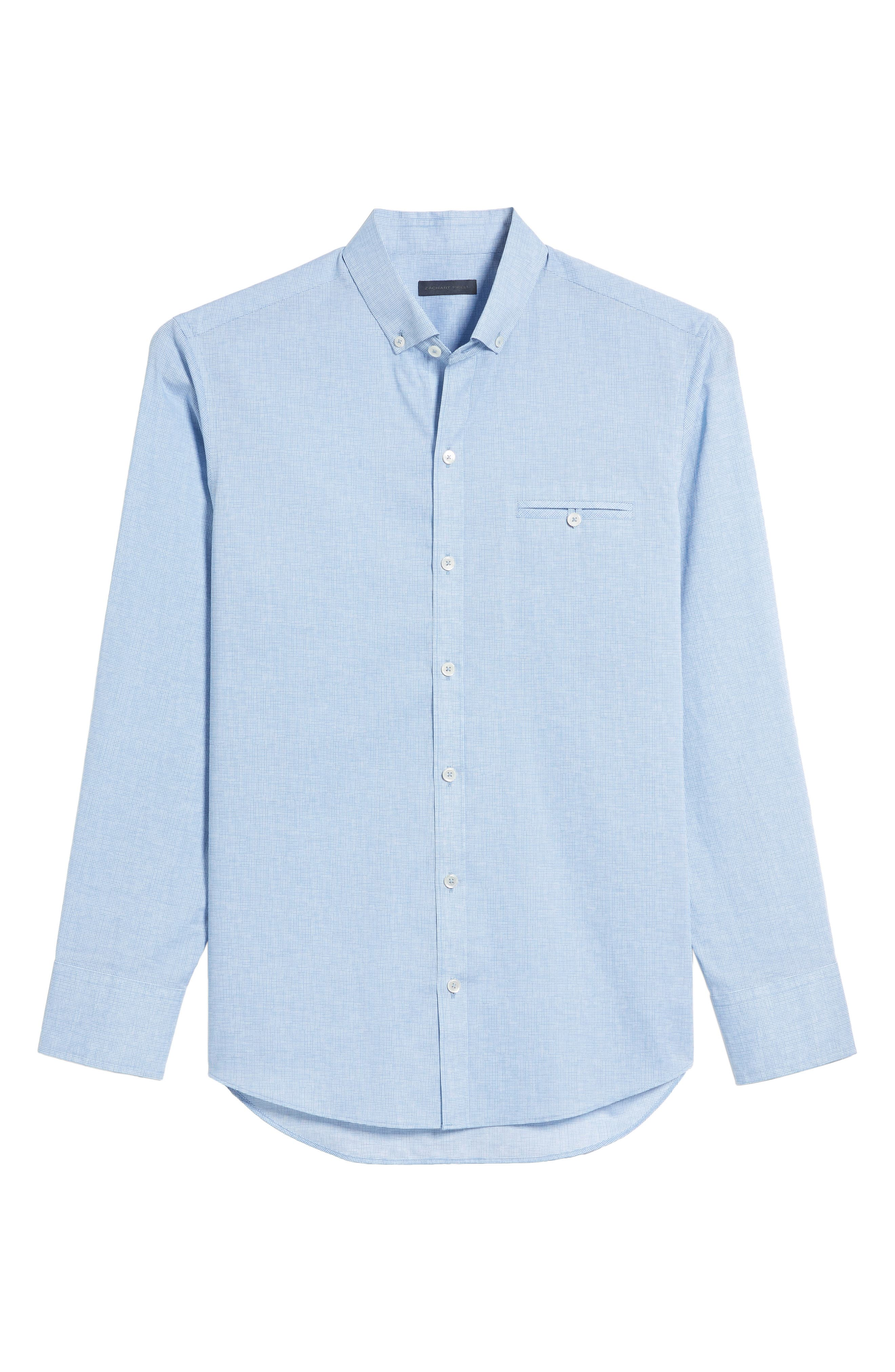 Forrest Textured Woven Sport Shirt,                             Alternate thumbnail 6, color,                             Ice Blue